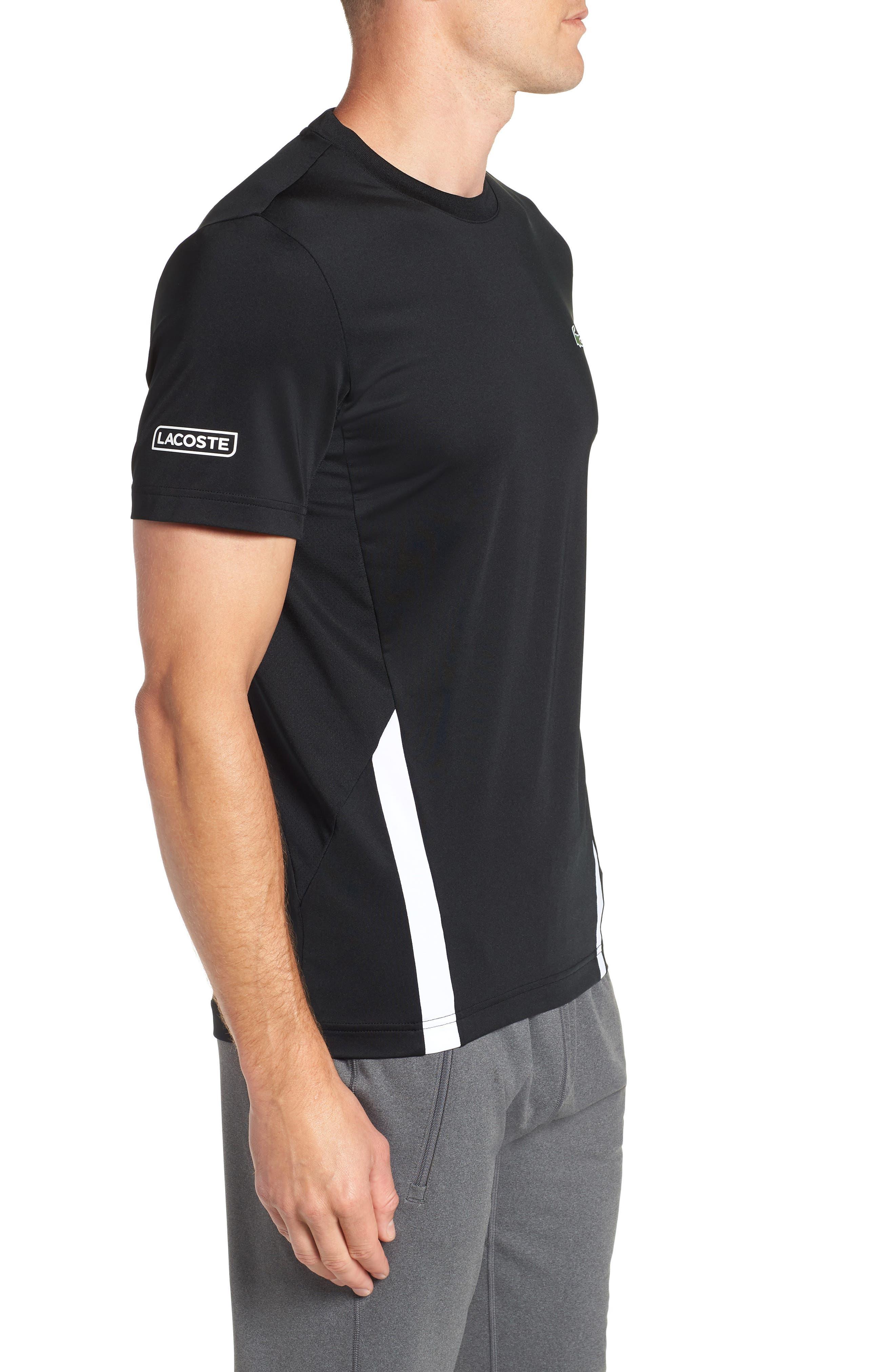 Regular Fit Novak Performance T-Shirt,                             Alternate thumbnail 3, color,                             BLACK/ WHITE