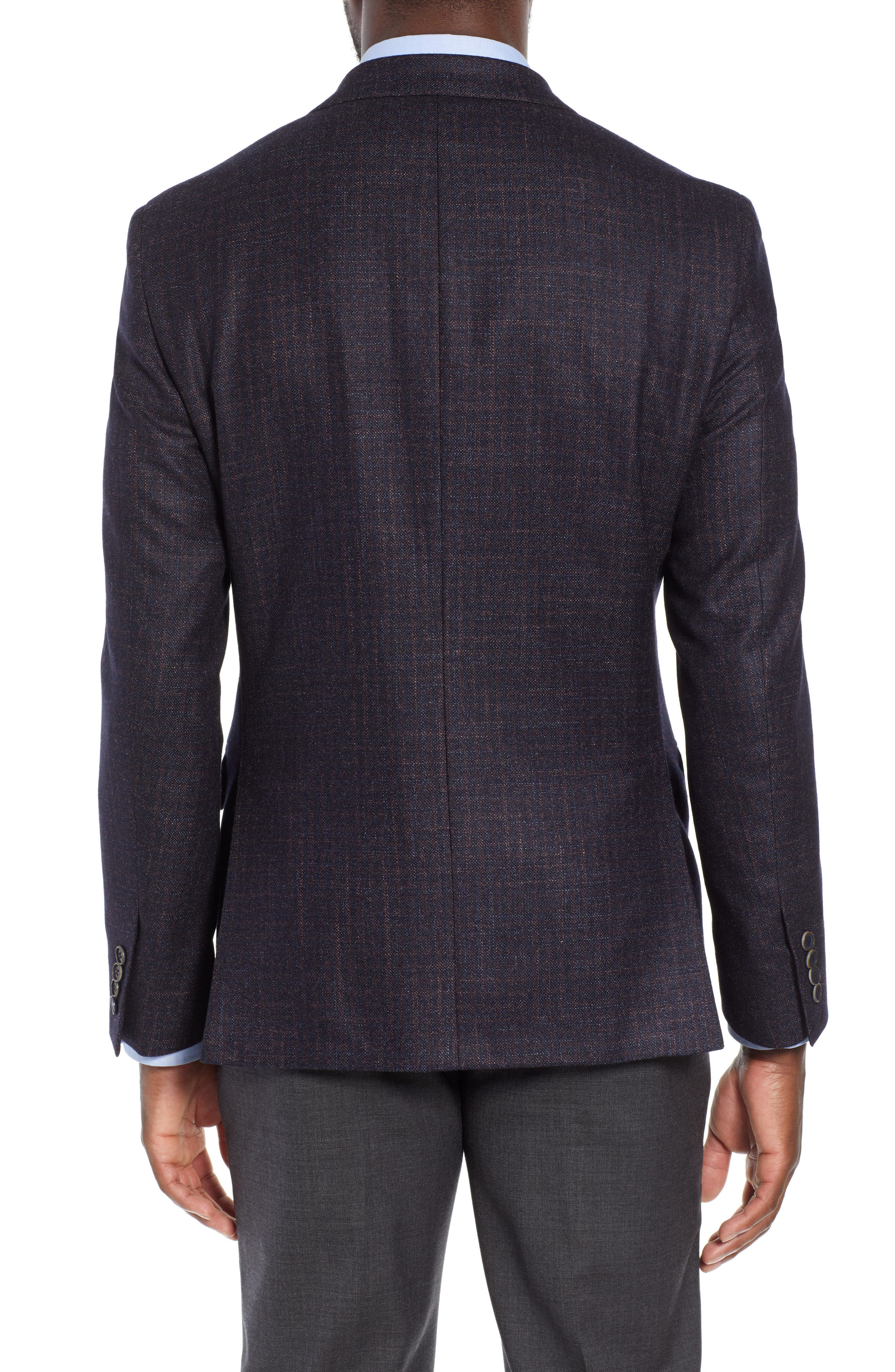 Classic Fit Wool Blazer,                             Alternate thumbnail 2, color,                             NAVY/ BERRY