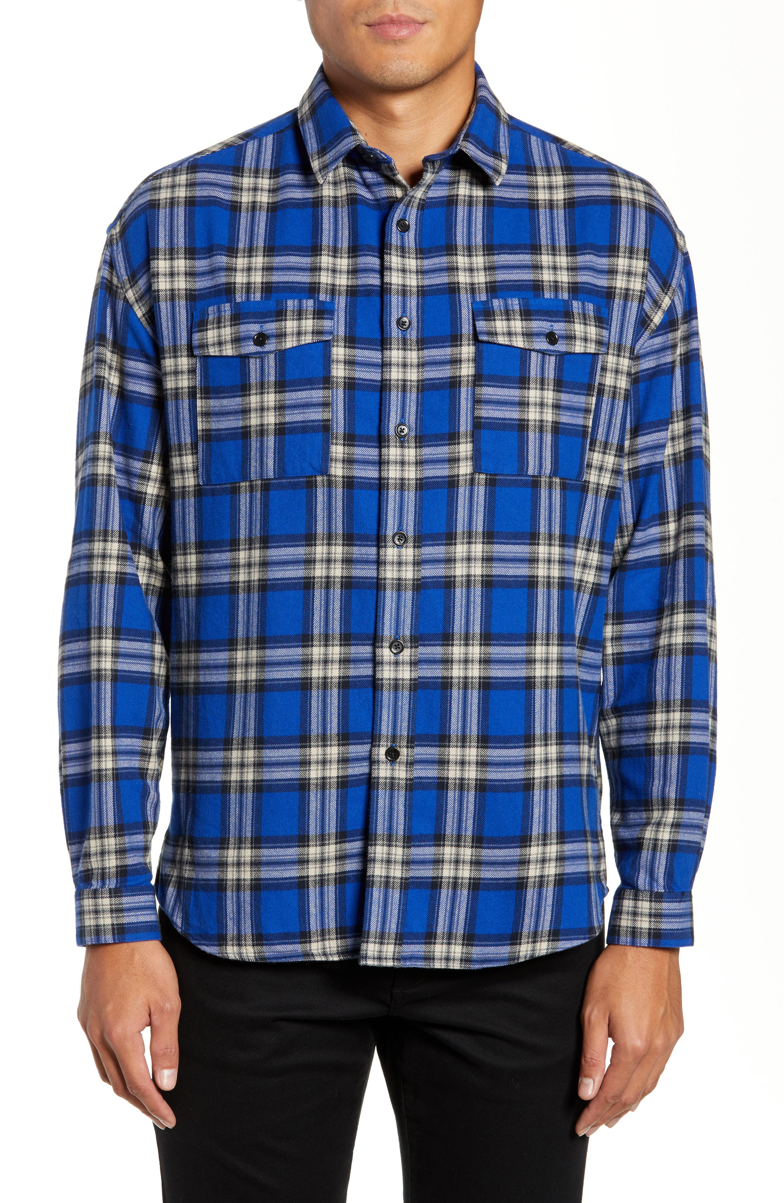 THE KOOPLES,                             Check Flannel Shirt,                             Main thumbnail 1, color,                             400