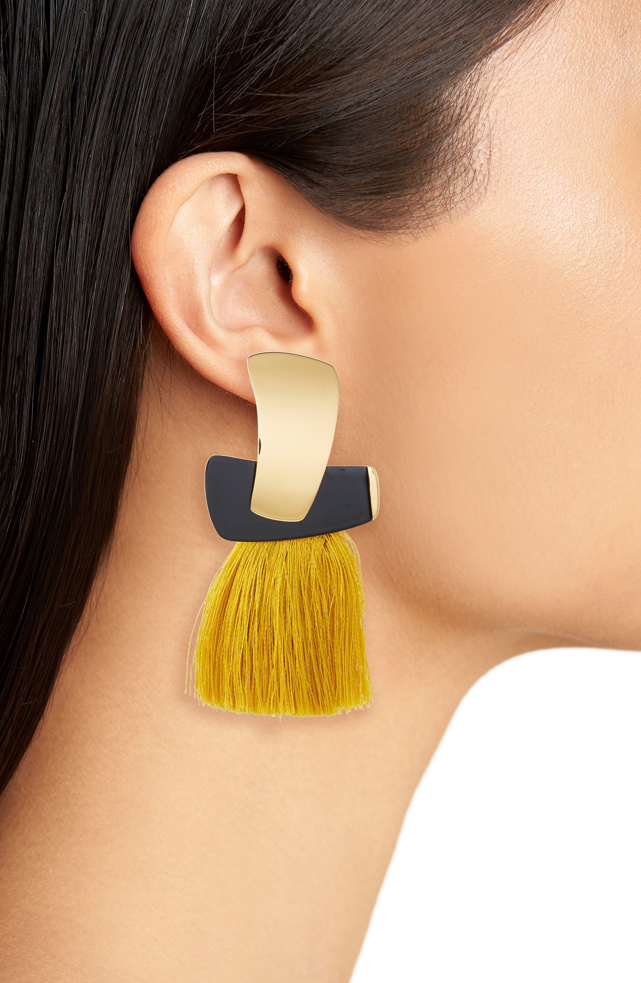 Totem Tassel Earrings,                             Alternate thumbnail 4, color,