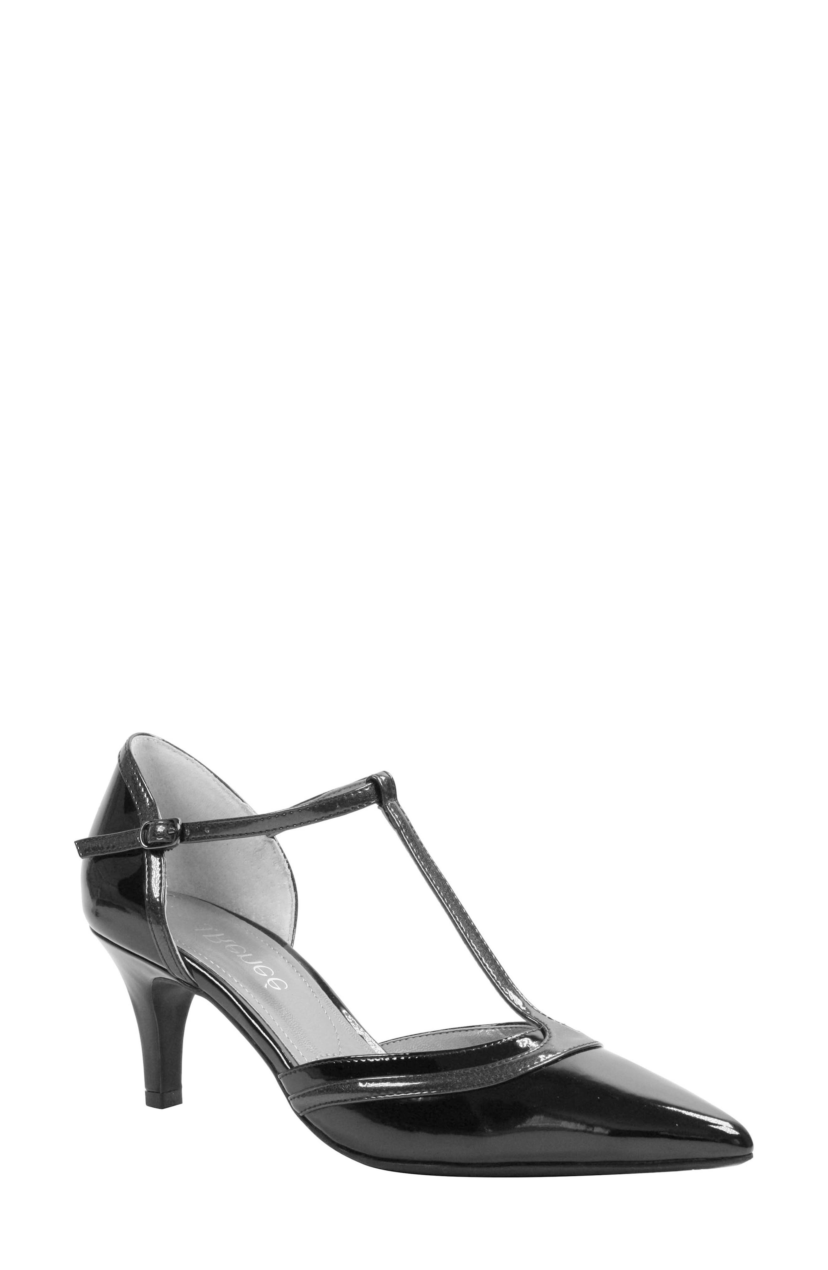 Emiliana T-Strap Pump,                         Main,                         color, 001