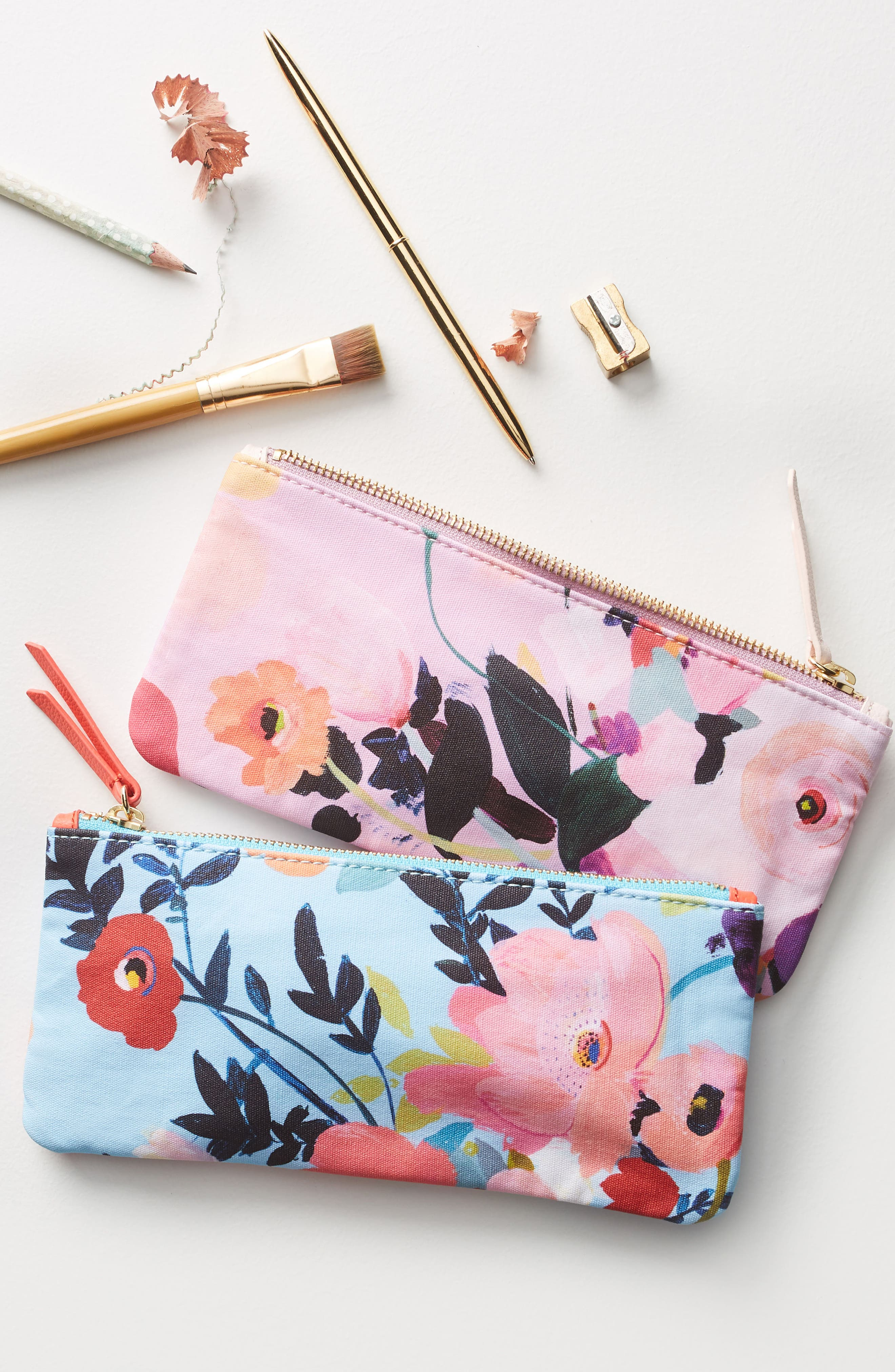 Picturesque Florals Pencil Pouch,                             Alternate thumbnail 4, color,                             400