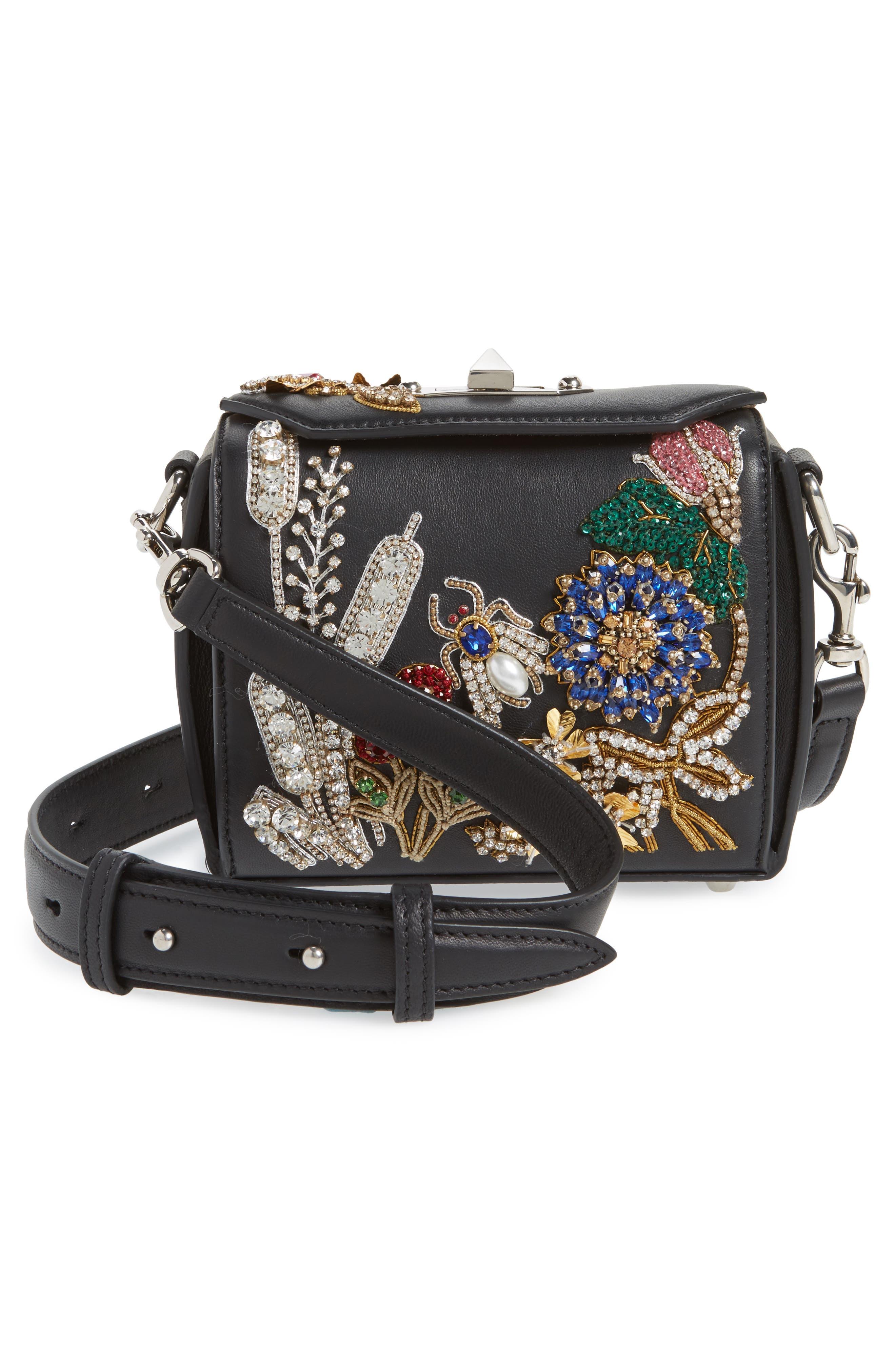 Box Bag 16 Embellished Lambskin Leather Bag,                             Alternate thumbnail 3, color,