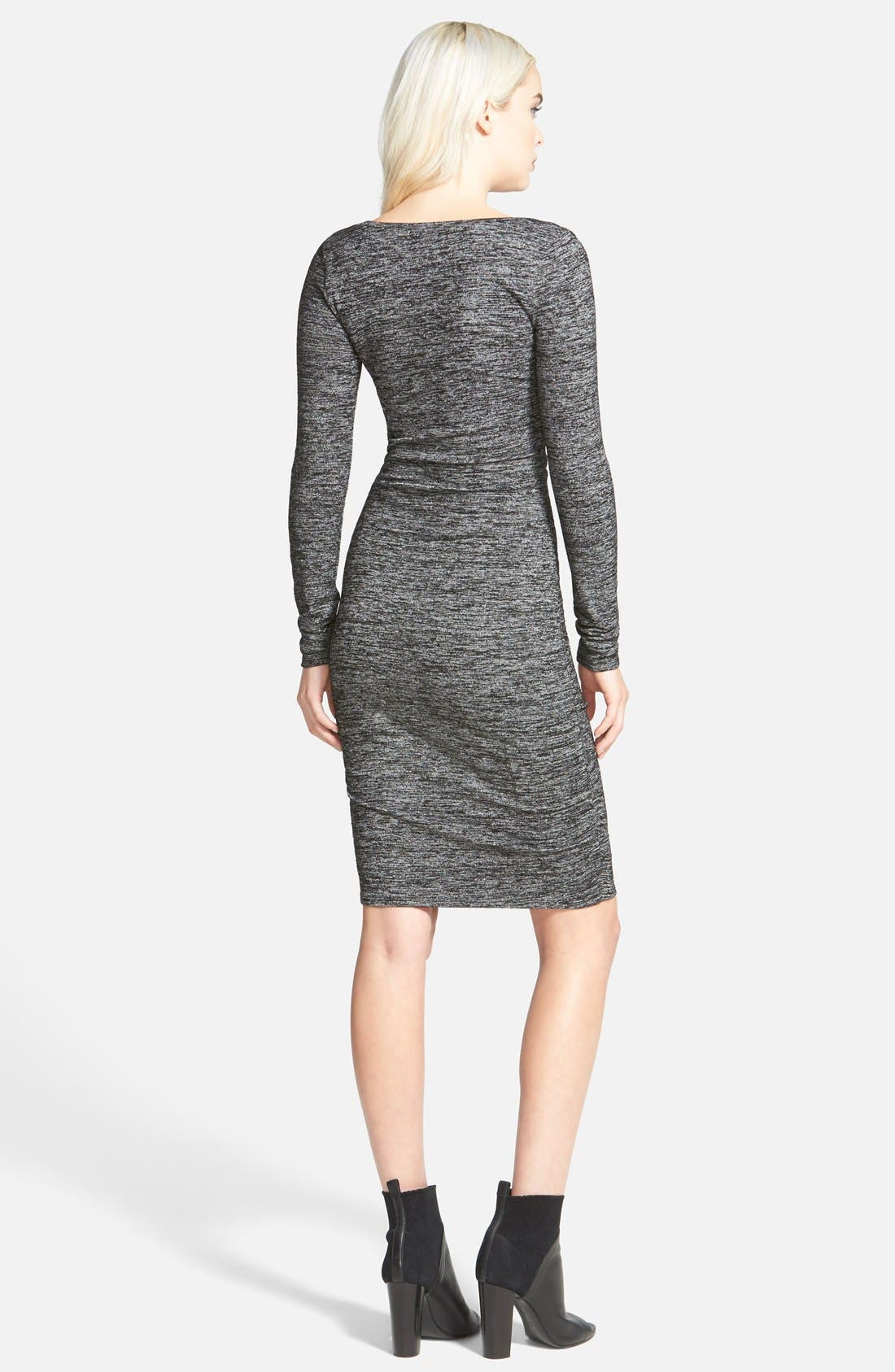 Ruched Body-Con Dress,                             Alternate thumbnail 2, color,                             021