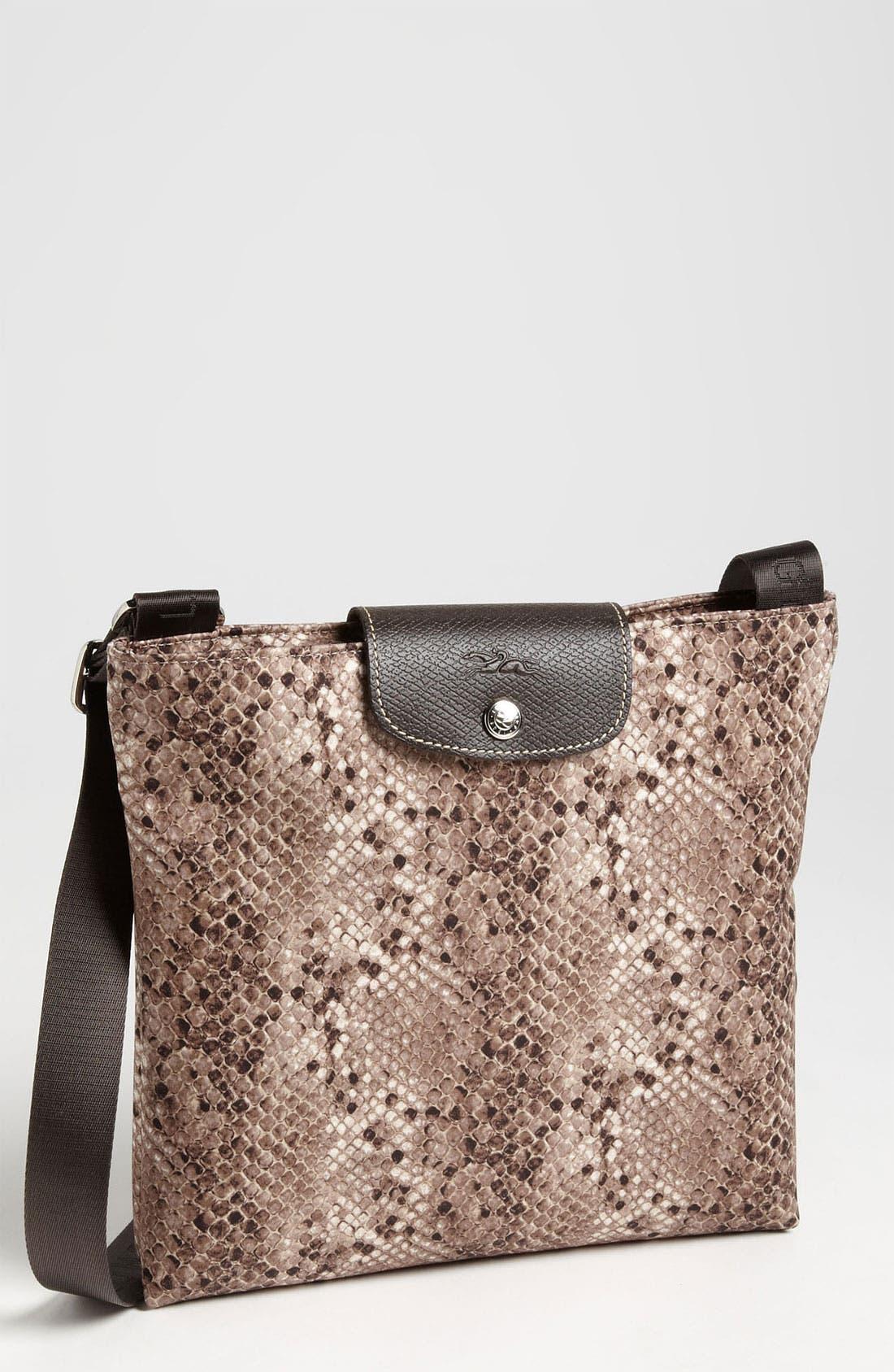 'Le Pliage' Python Print Crossbody Bag, Main, color, 266