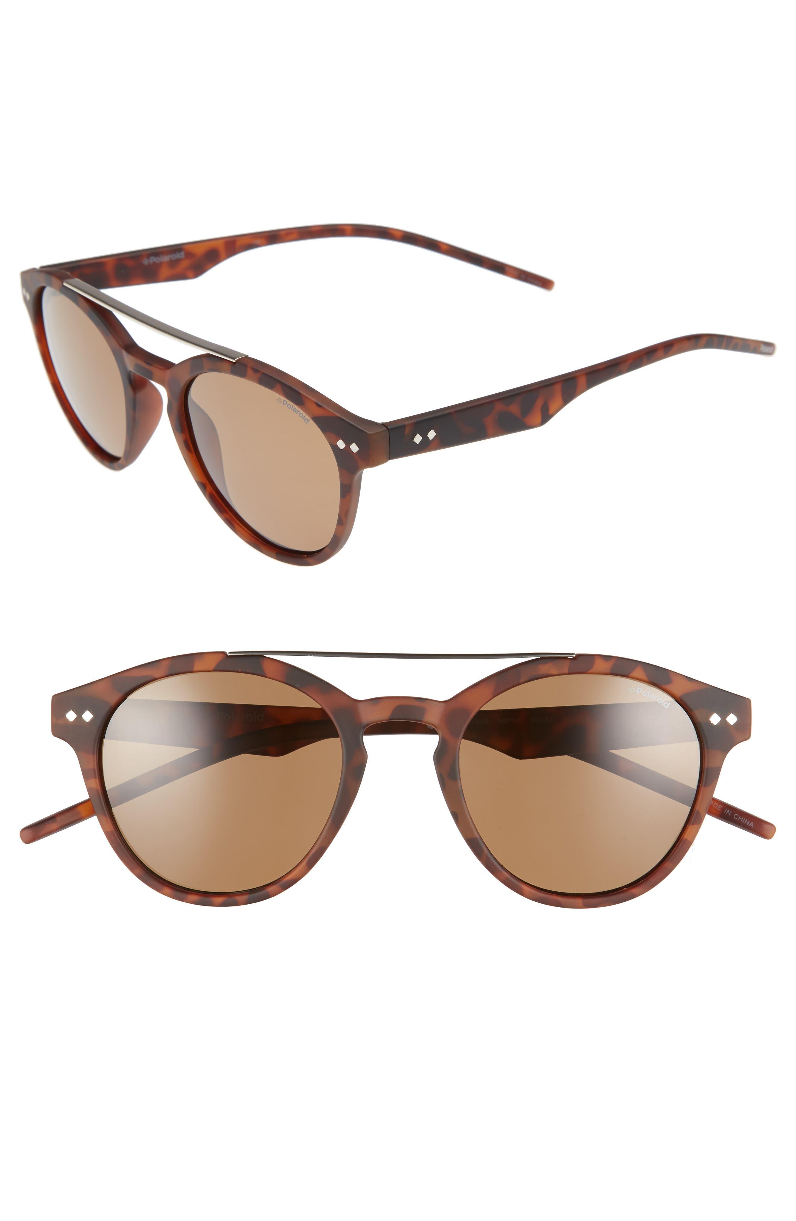 50mm Polarized Retro Sunglasses,                             Main thumbnail 2, color,