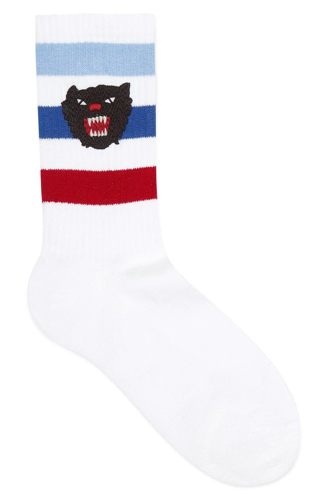 Puma Patch Socks,                             Main thumbnail 1, color,