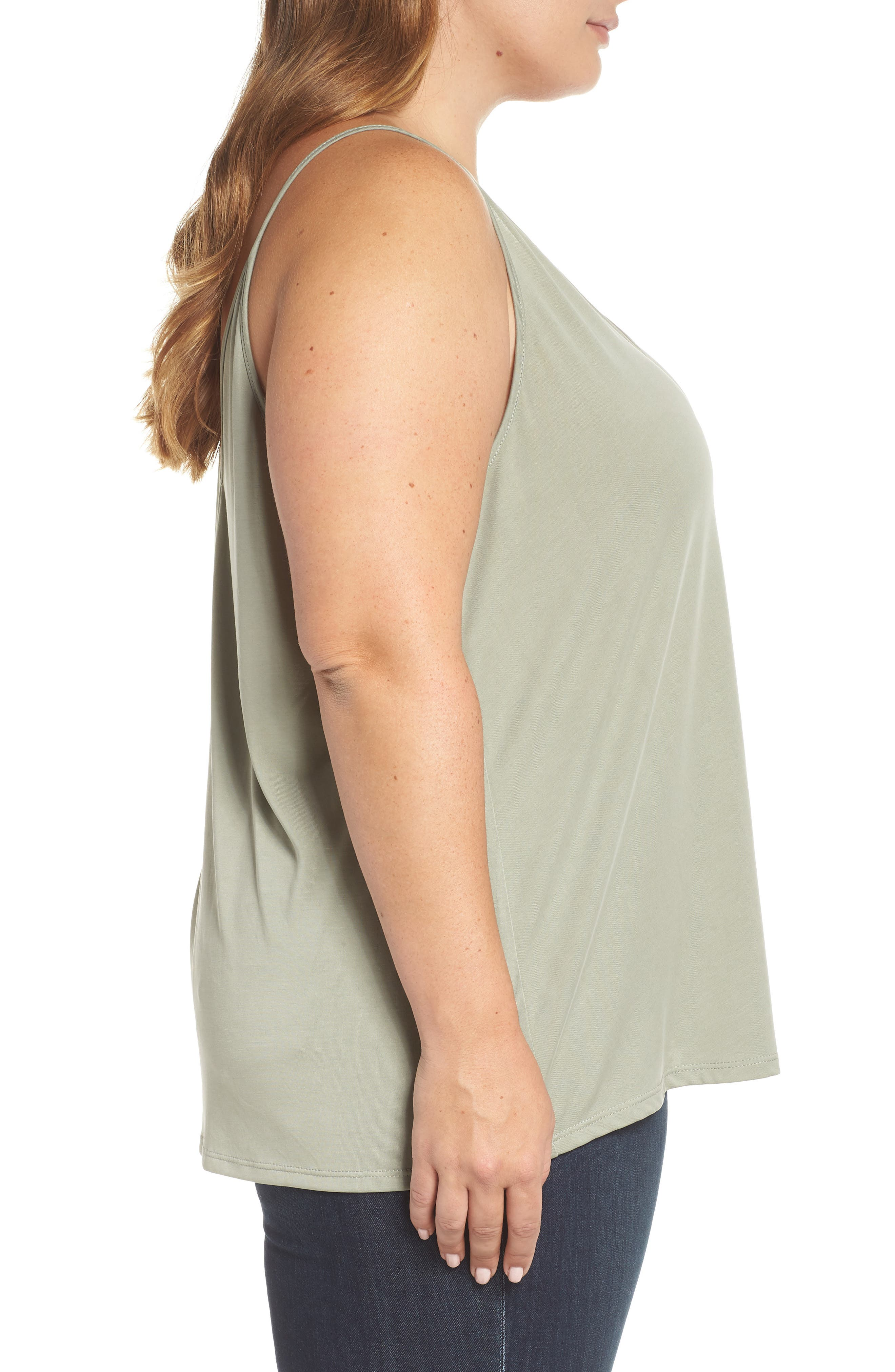 Double V Swing Camisole,                             Alternate thumbnail 9, color,                             OLIVE BURNT