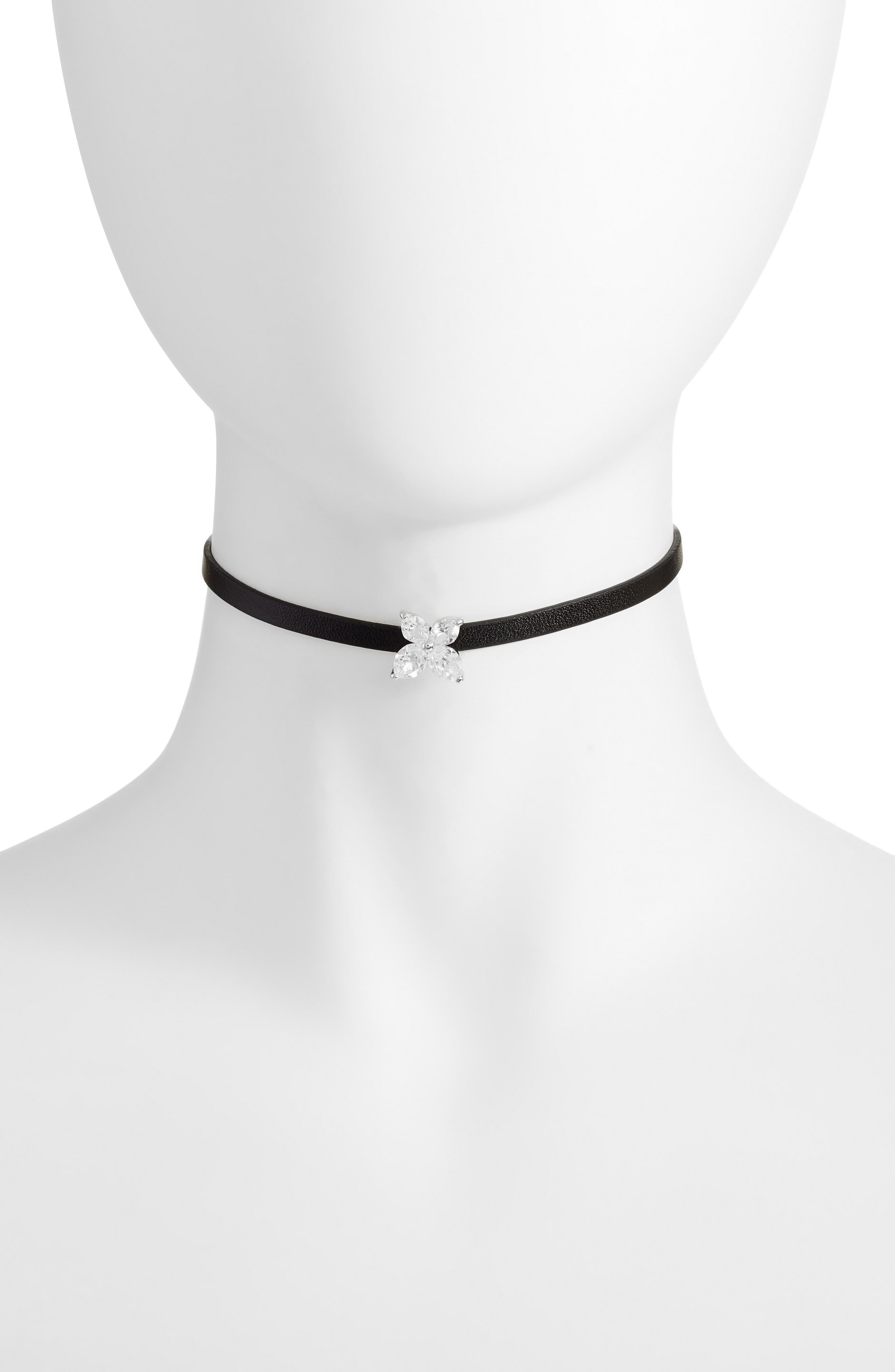 Marquise Choker Necklace,                             Main thumbnail 1, color,                             040
