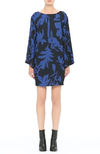 Floral Crepe Bell Sleeve Dress, video thumbnail
