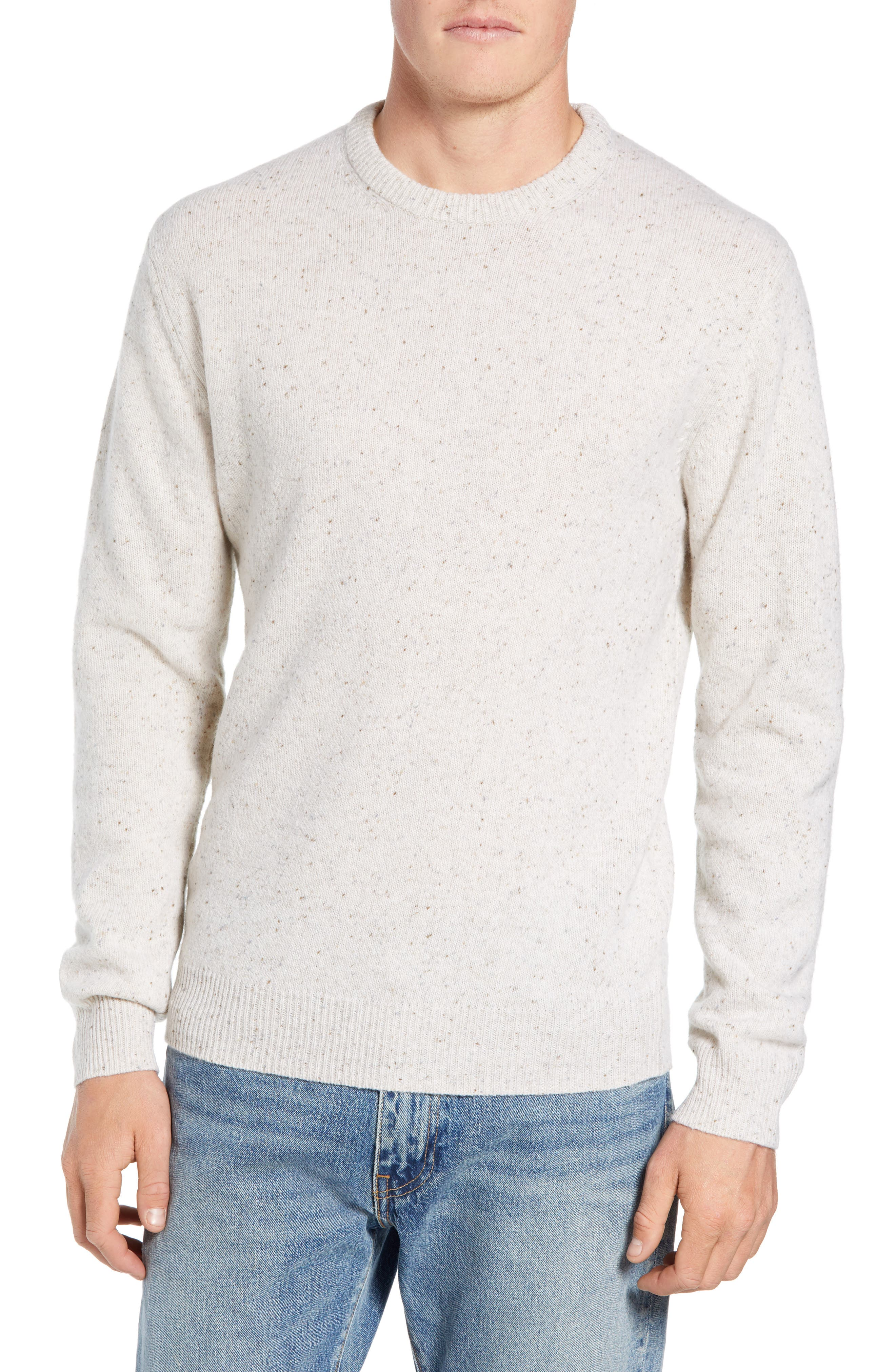 Donegal Sweater,                         Main,                         color, CUBA WHITE