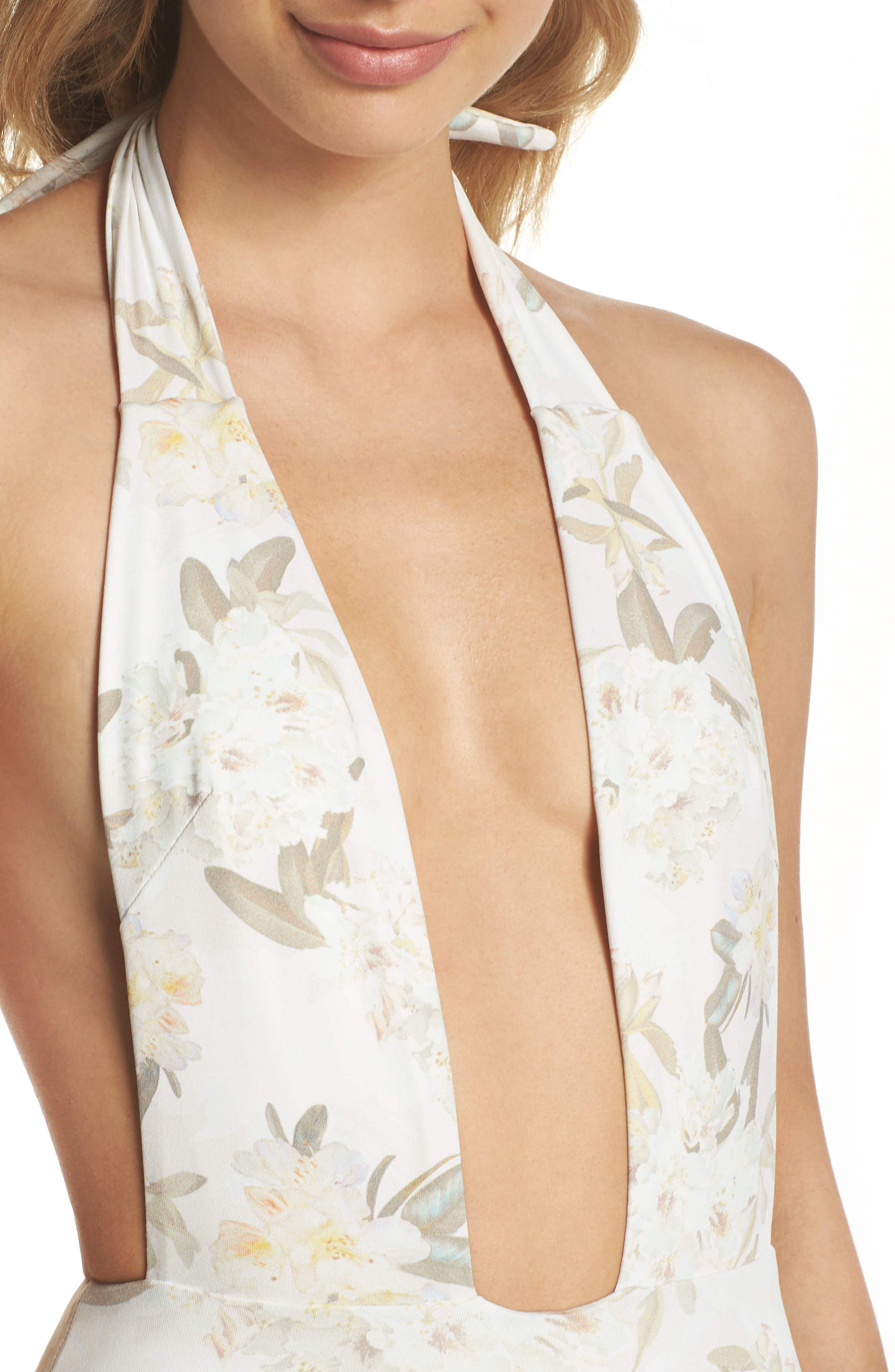Tropex One-Piece Swimsuit,                             Alternate thumbnail 4, color,                             ETE FLORAL WHITE