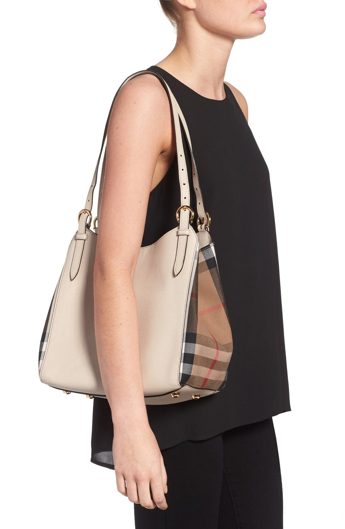 'Derby Canterbury' House Check Shoulder Tote,                             Alternate thumbnail 2, color,                             101