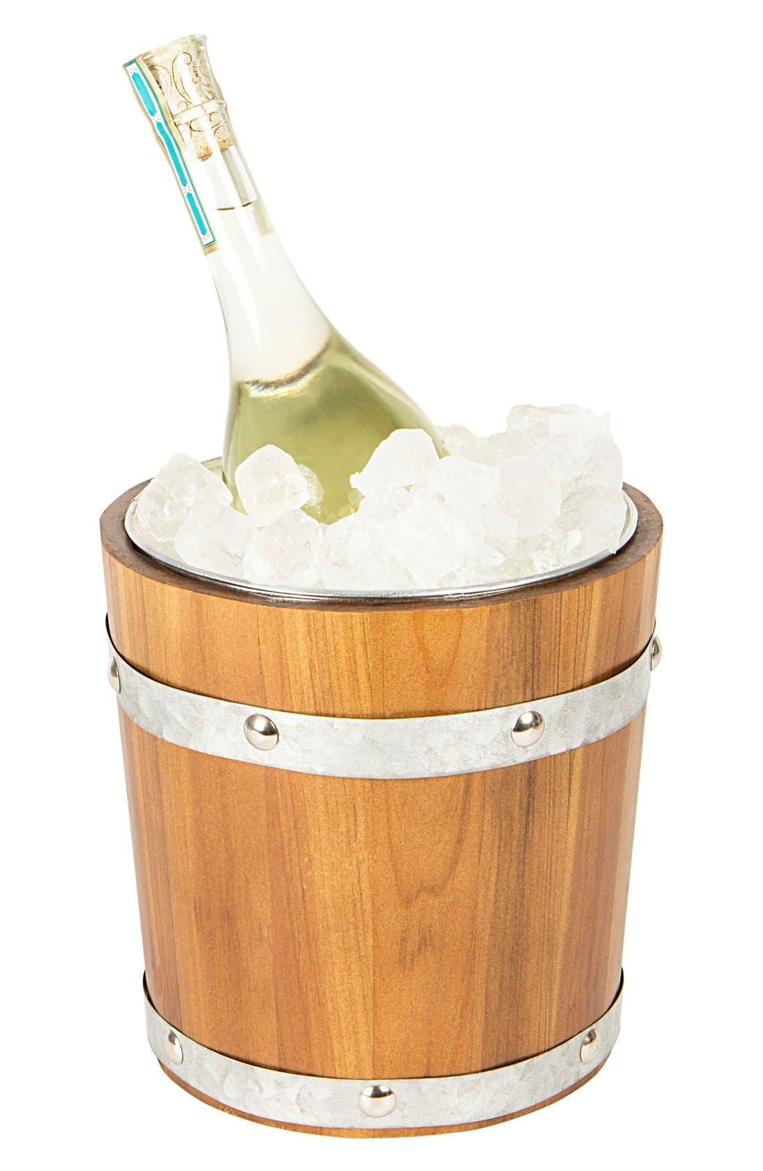 Rustic Monogram Ice Bucket,                         Main,                         color, 200