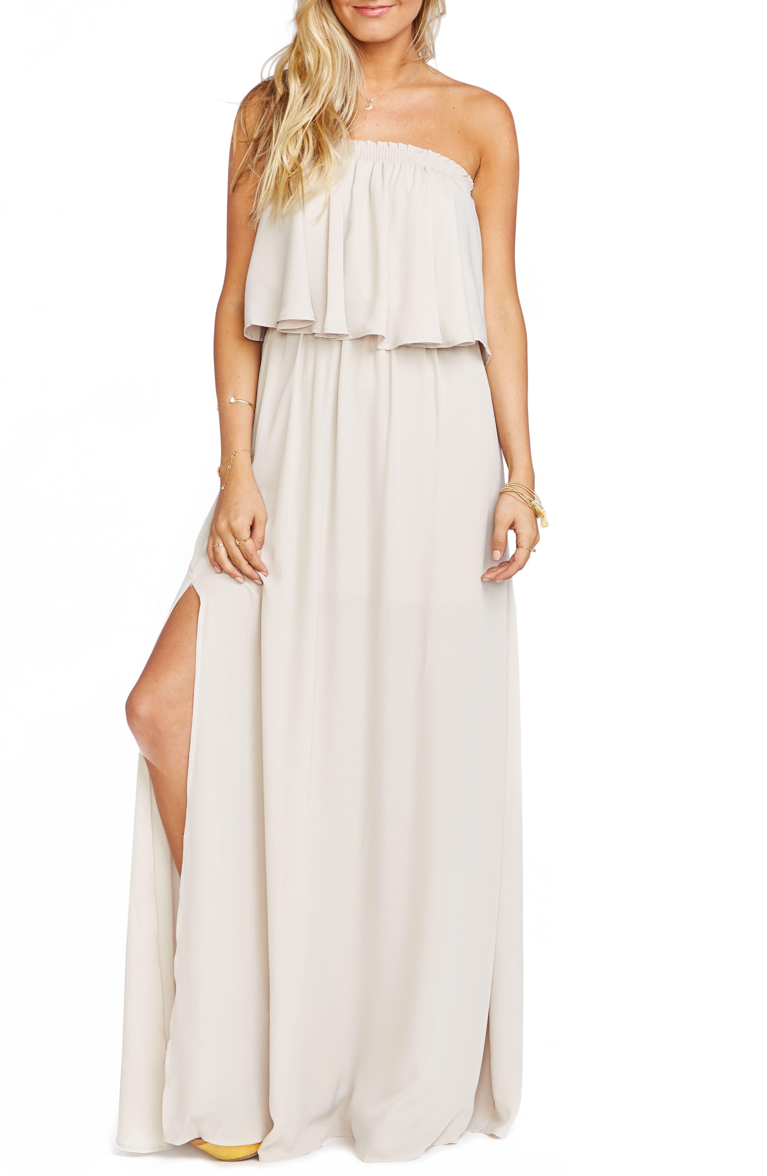 Hacienda Convertible Gown,                         Main,                         color, SHOW ME THE RING CRISP