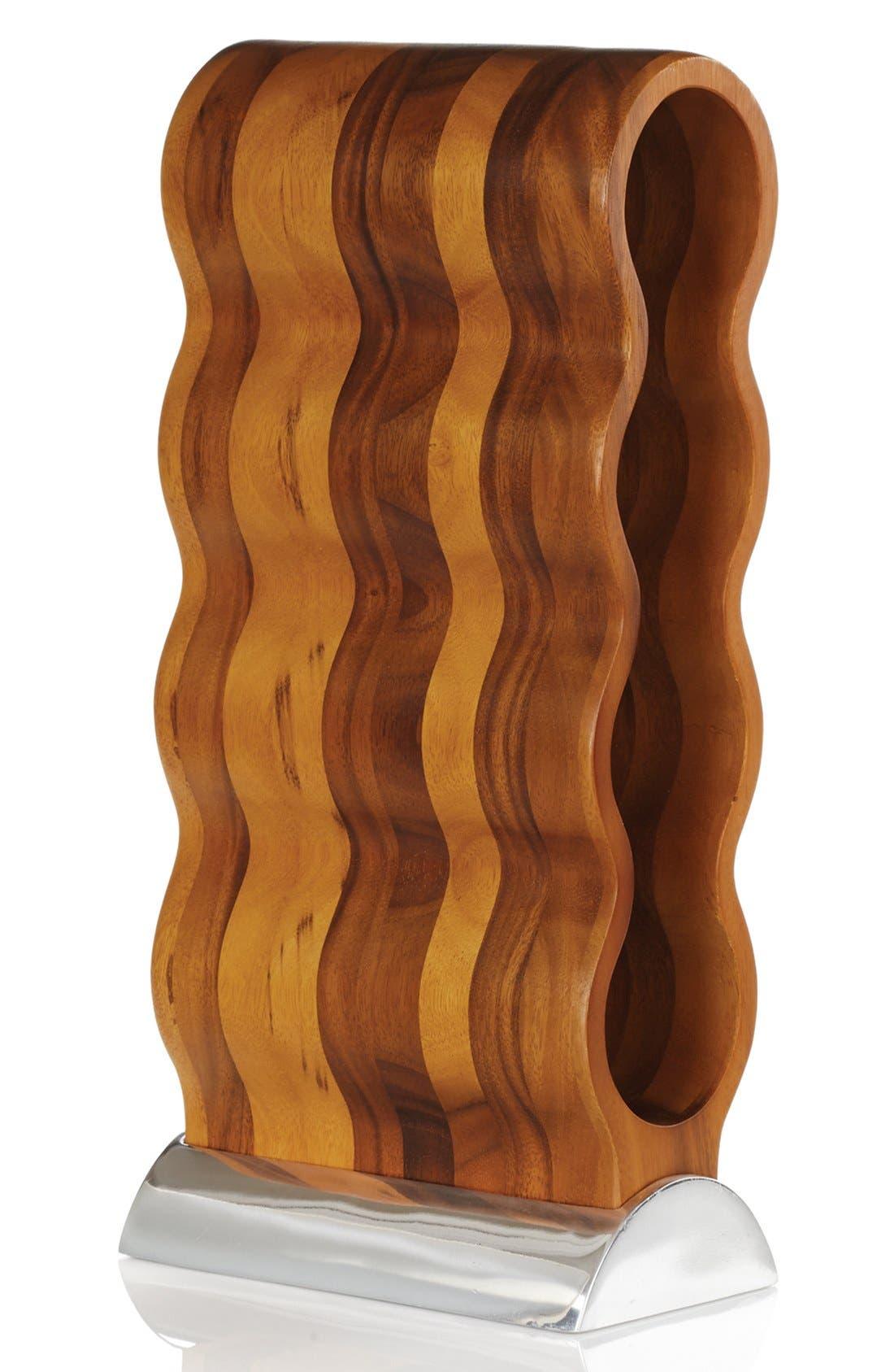 Curvo Wine Rack,                         Main,                         color, SILVER