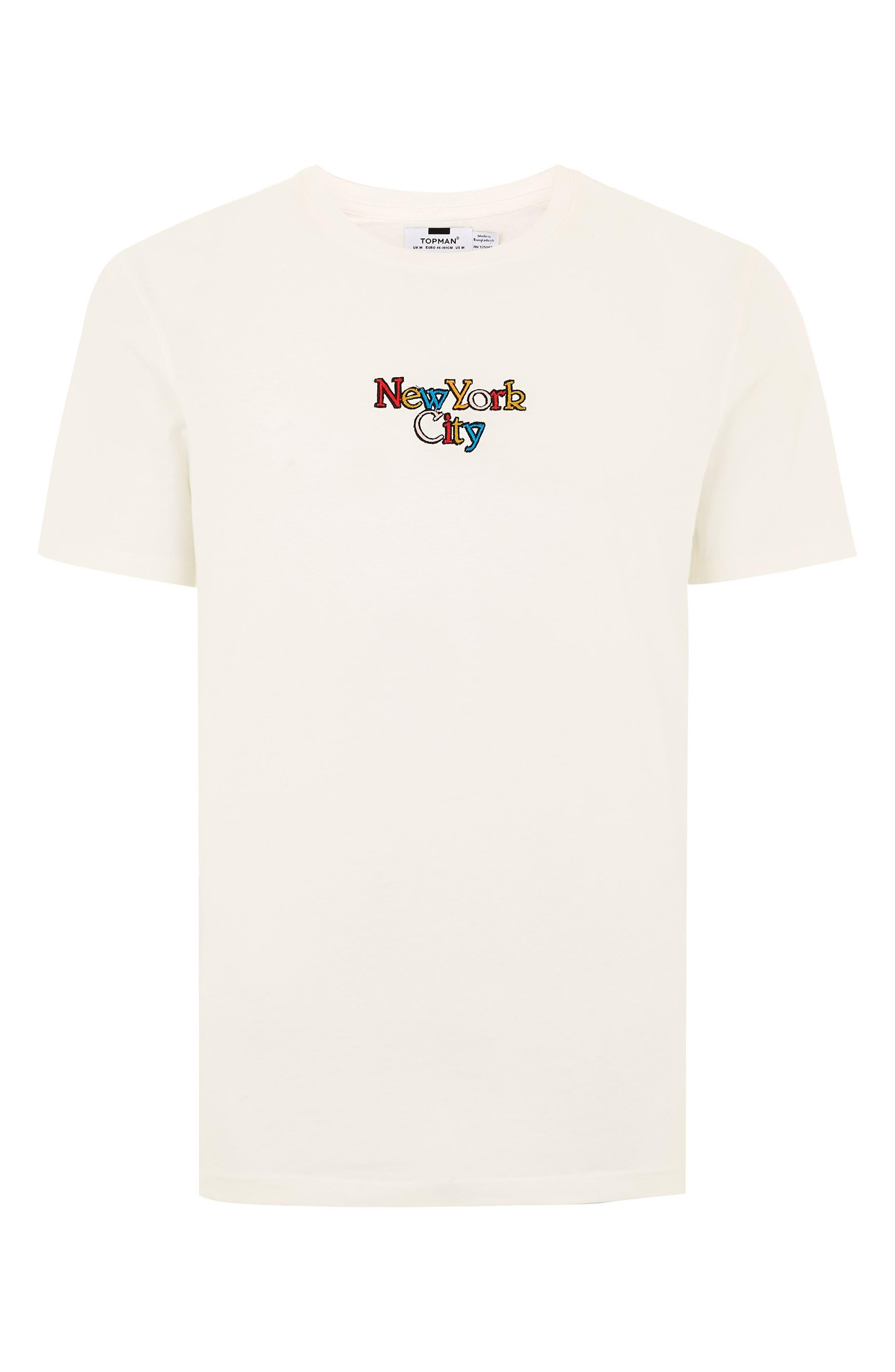 New York City Graphic T-Shirt,                             Alternate thumbnail 4, color,                             CREAM