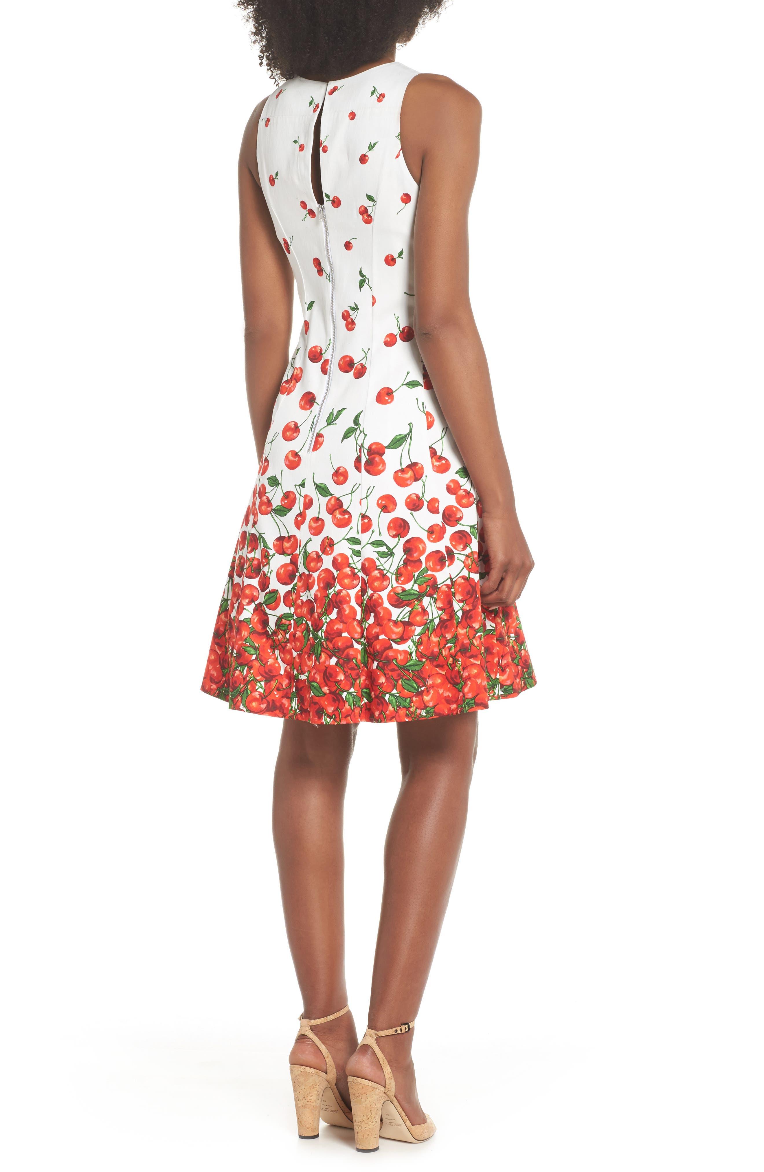 Print Fit & Flare Dress,                             Alternate thumbnail 2, color,                             143