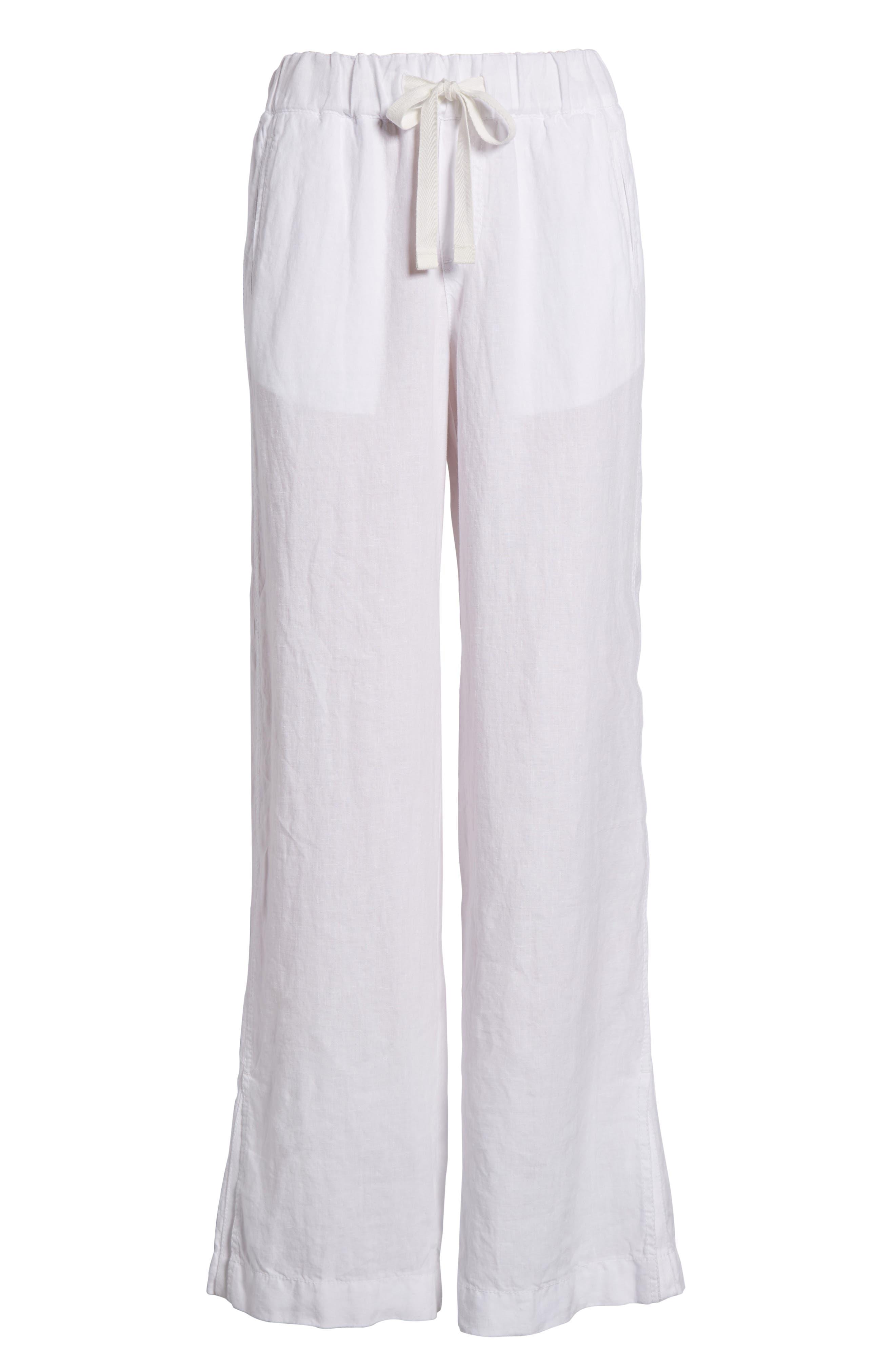 Linen Track Pants,                             Alternate thumbnail 27, color,