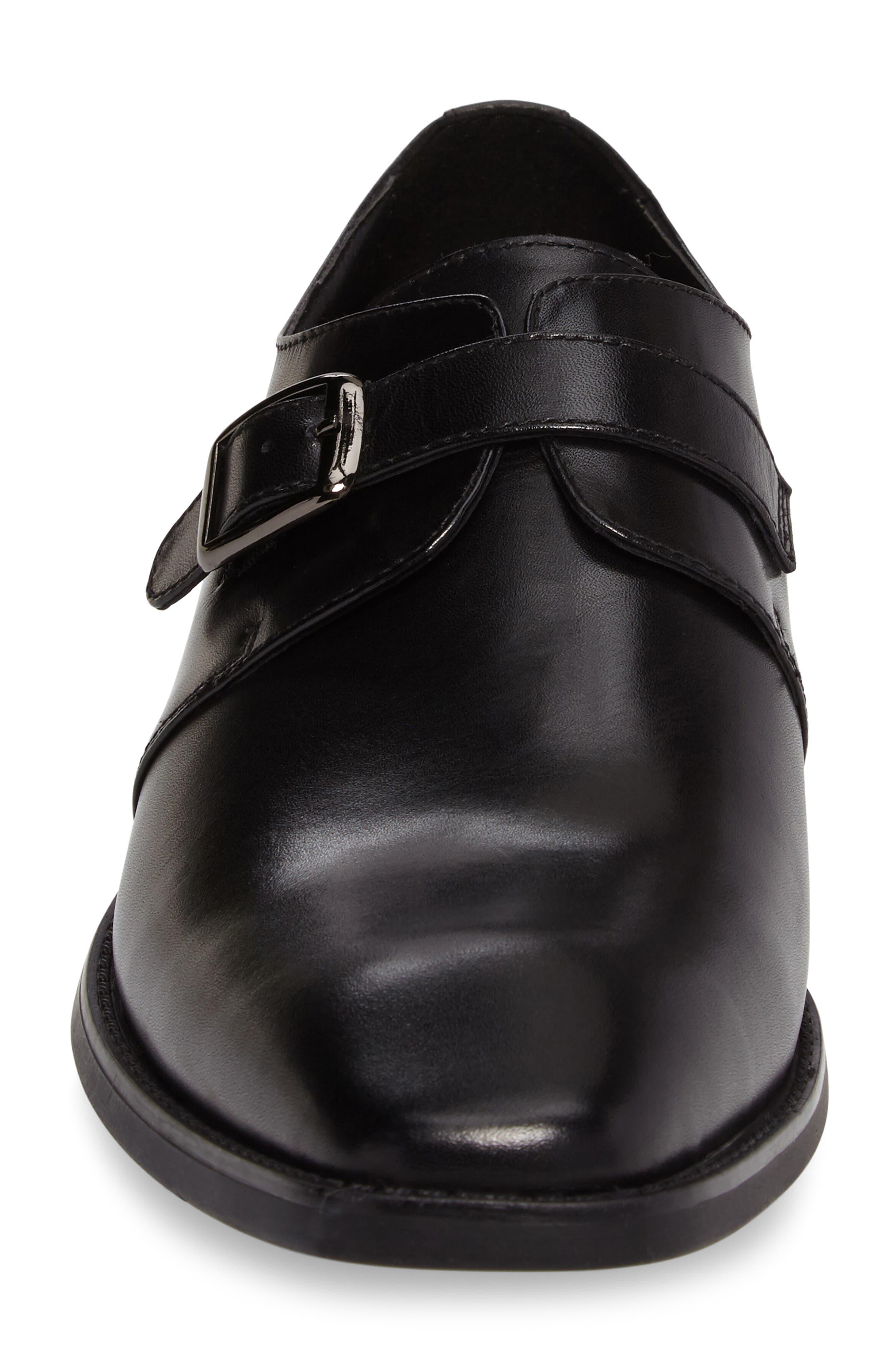 Landon Monk Strap Shoe,                             Alternate thumbnail 4, color,                             001
