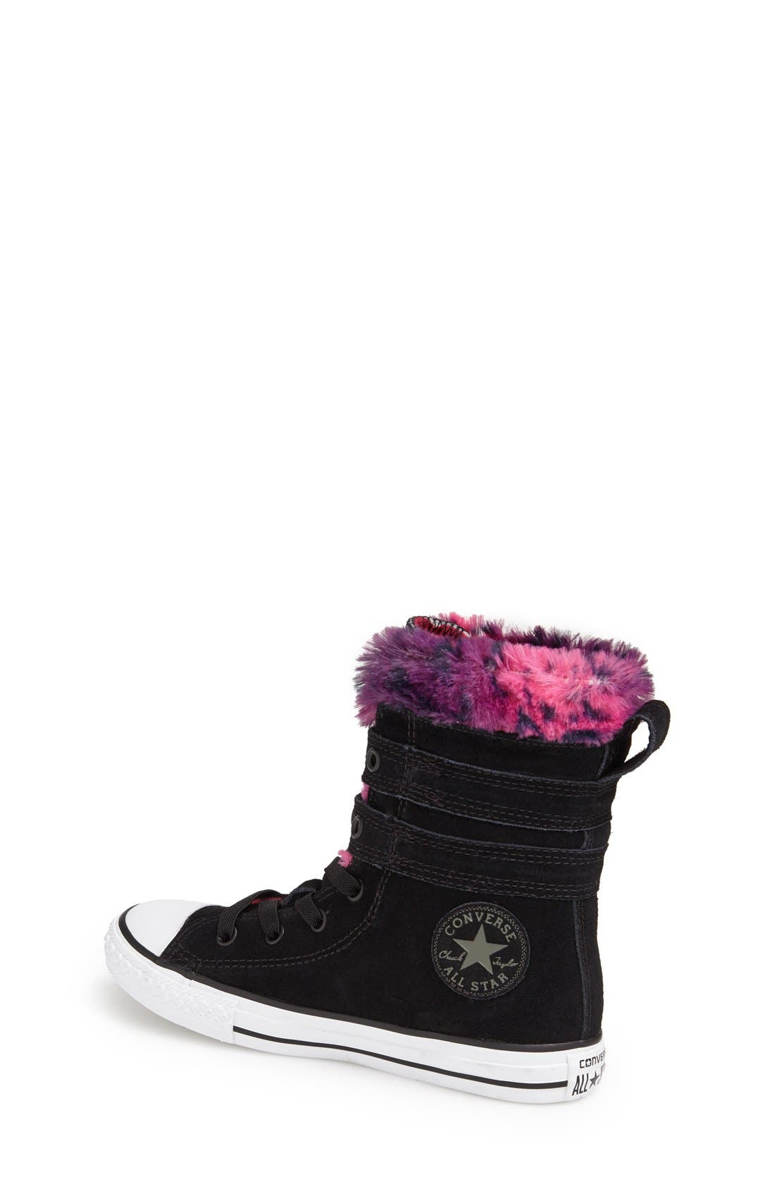 CONVERSE,                             Chuck Taylor<sup>®</sup> All Star<sup>®</sup> 'Glendale' High Top Sneaker,                             Alternate thumbnail 4, color,                             001