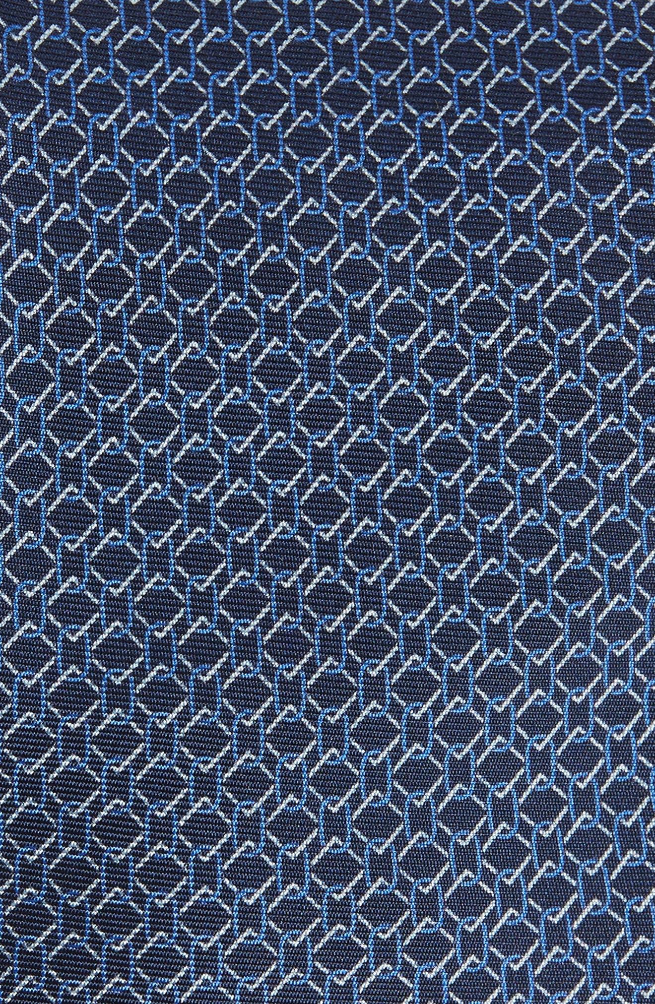 Geometric Silk Tie,                             Alternate thumbnail 2, color,                             BLUE MULTI