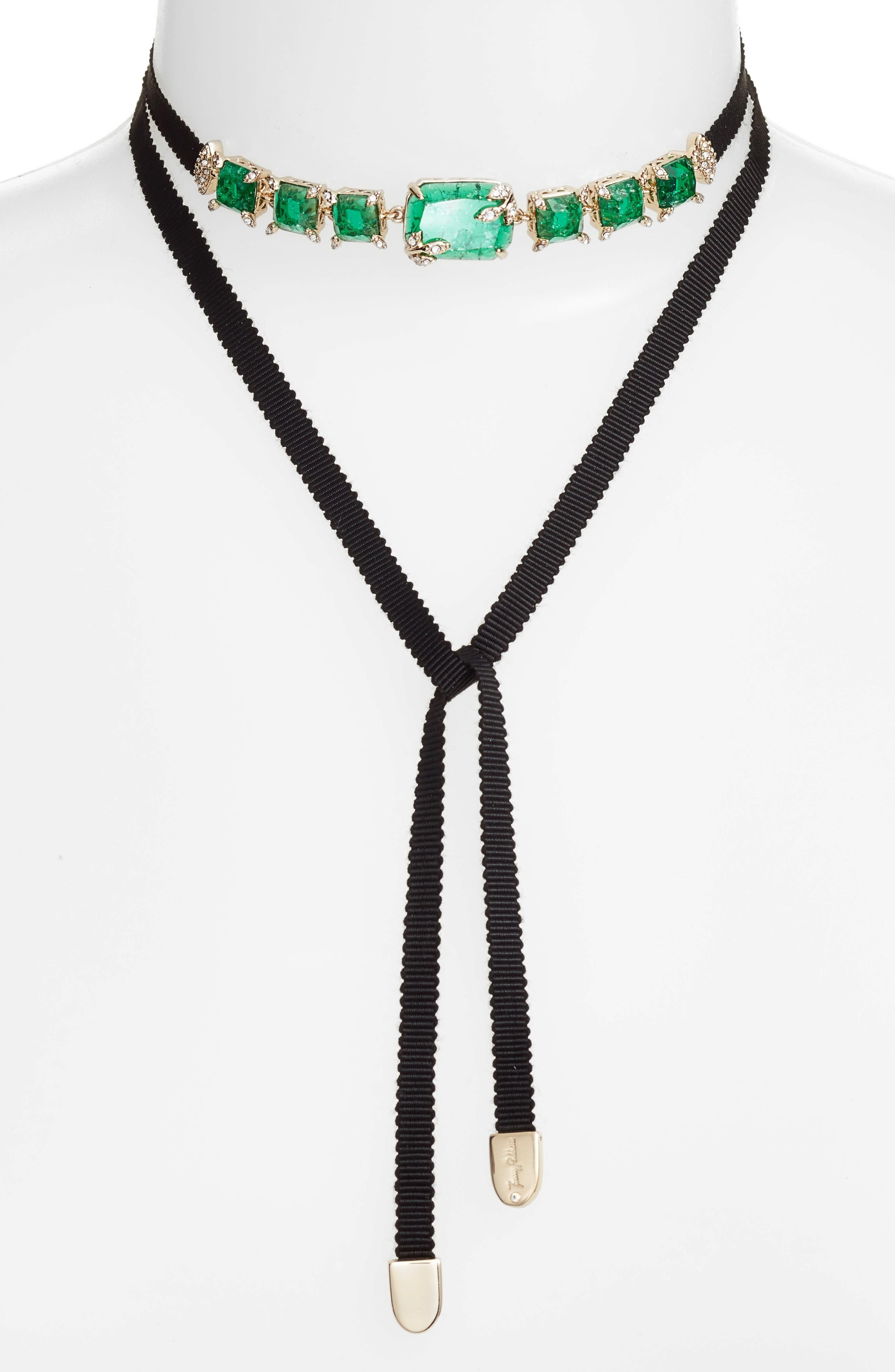 Tie Choker Necklace,                             Main thumbnail 2, color,