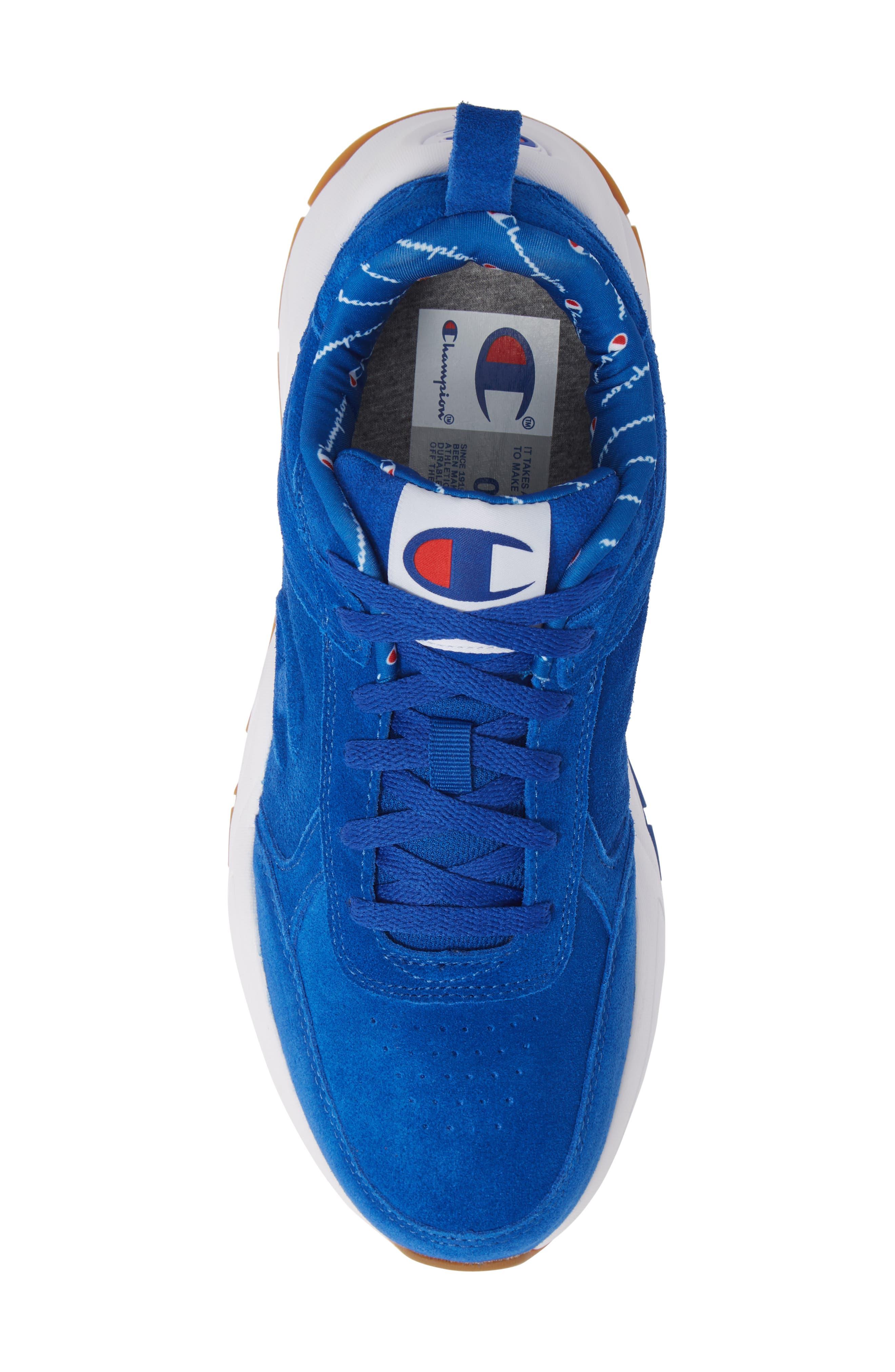 93Eighteen Sneaker,                             Alternate thumbnail 5, color,                             BLUE SUEDE