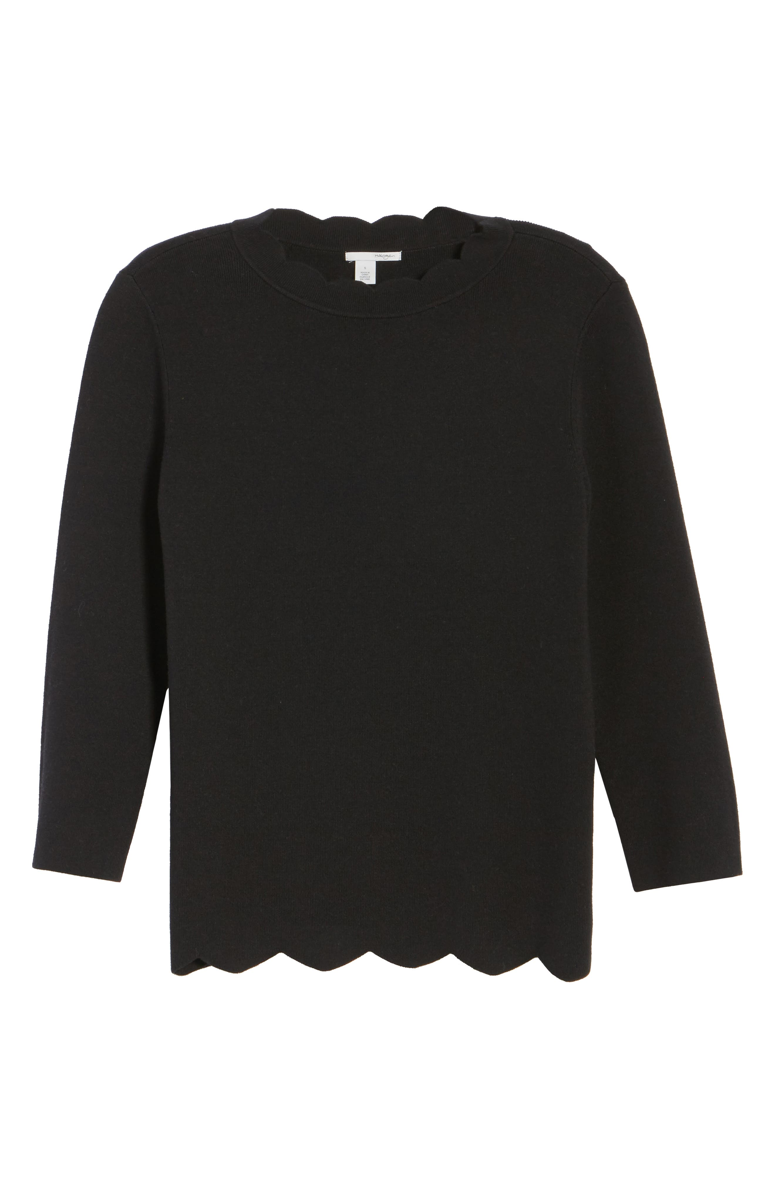 Halogen Scallop Edge Sweater,                             Alternate thumbnail 60, color,