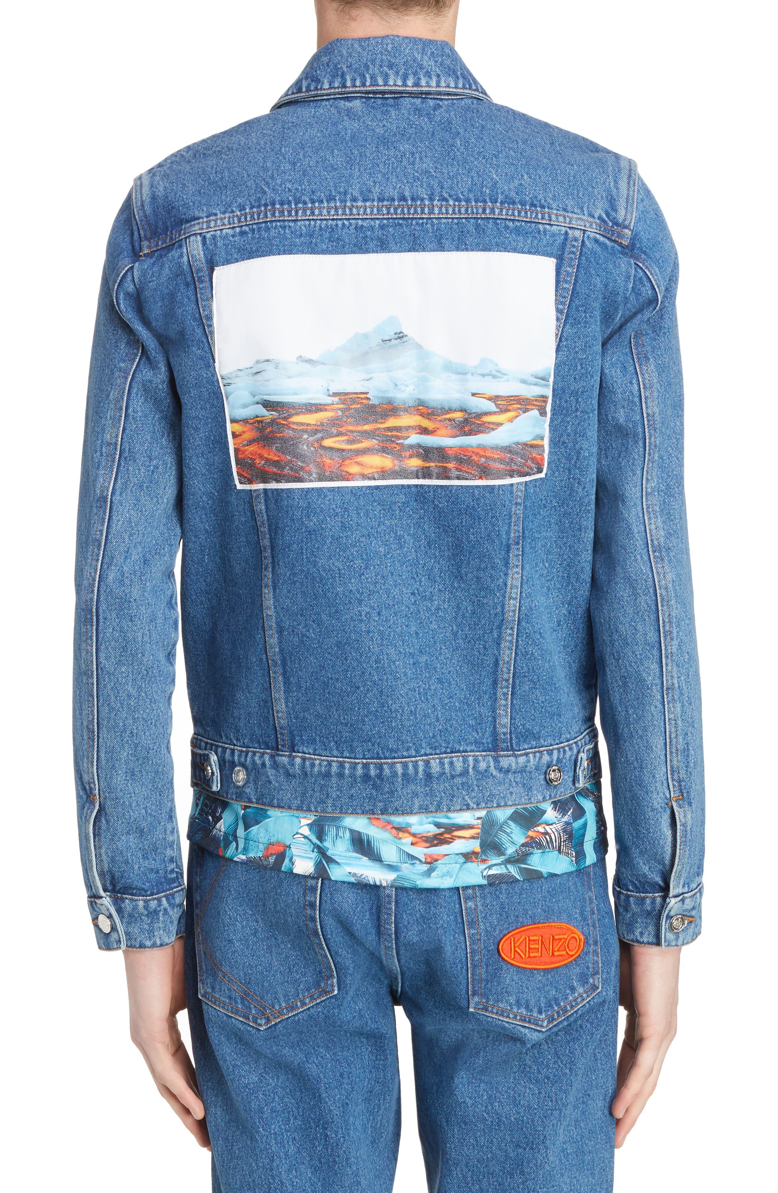 Denim Patch Jacket,                             Alternate thumbnail 2, color,                             402