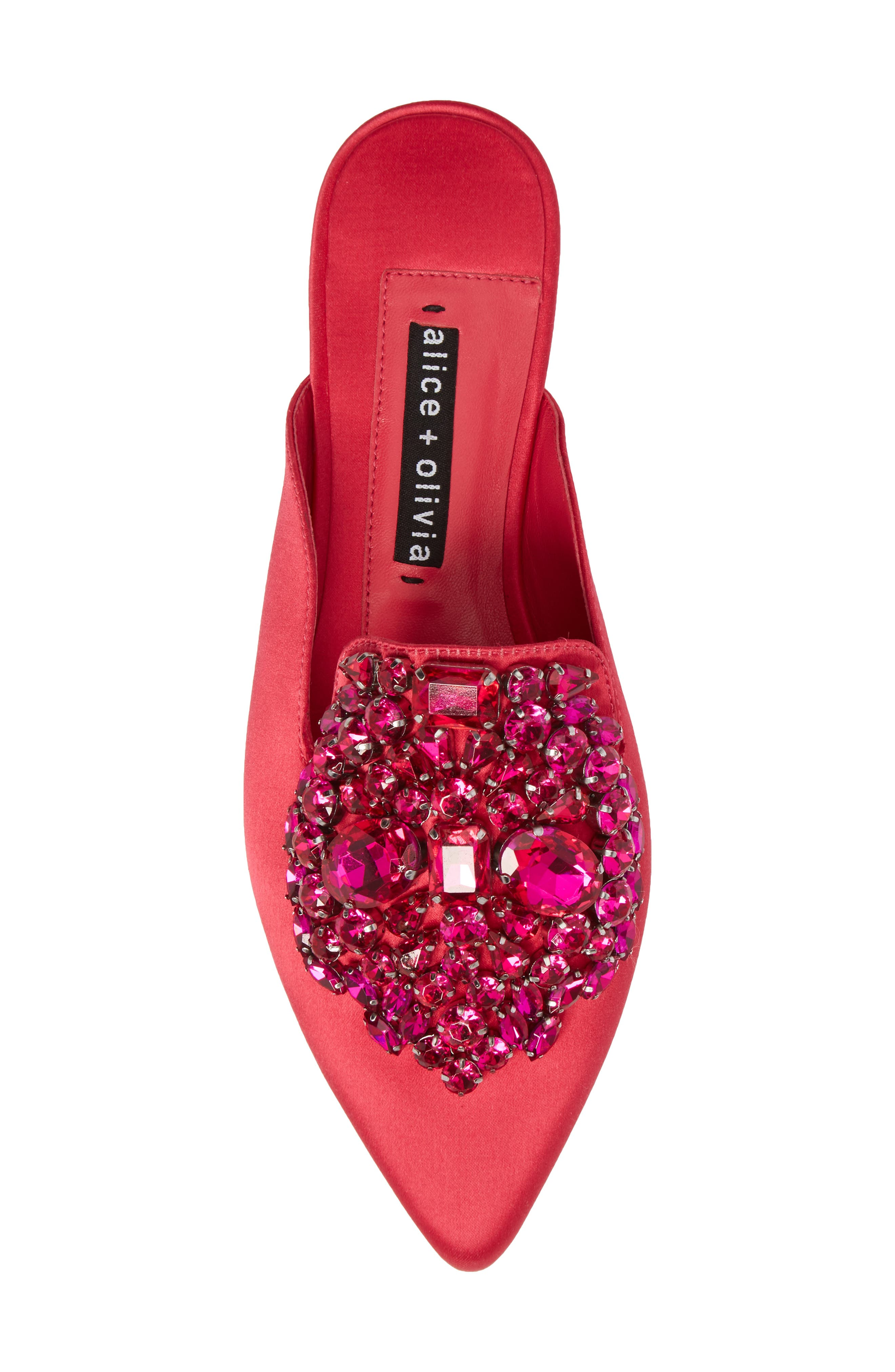 Lilly Crystal Embellished Loafer Mule,                             Alternate thumbnail 5, color,                             650