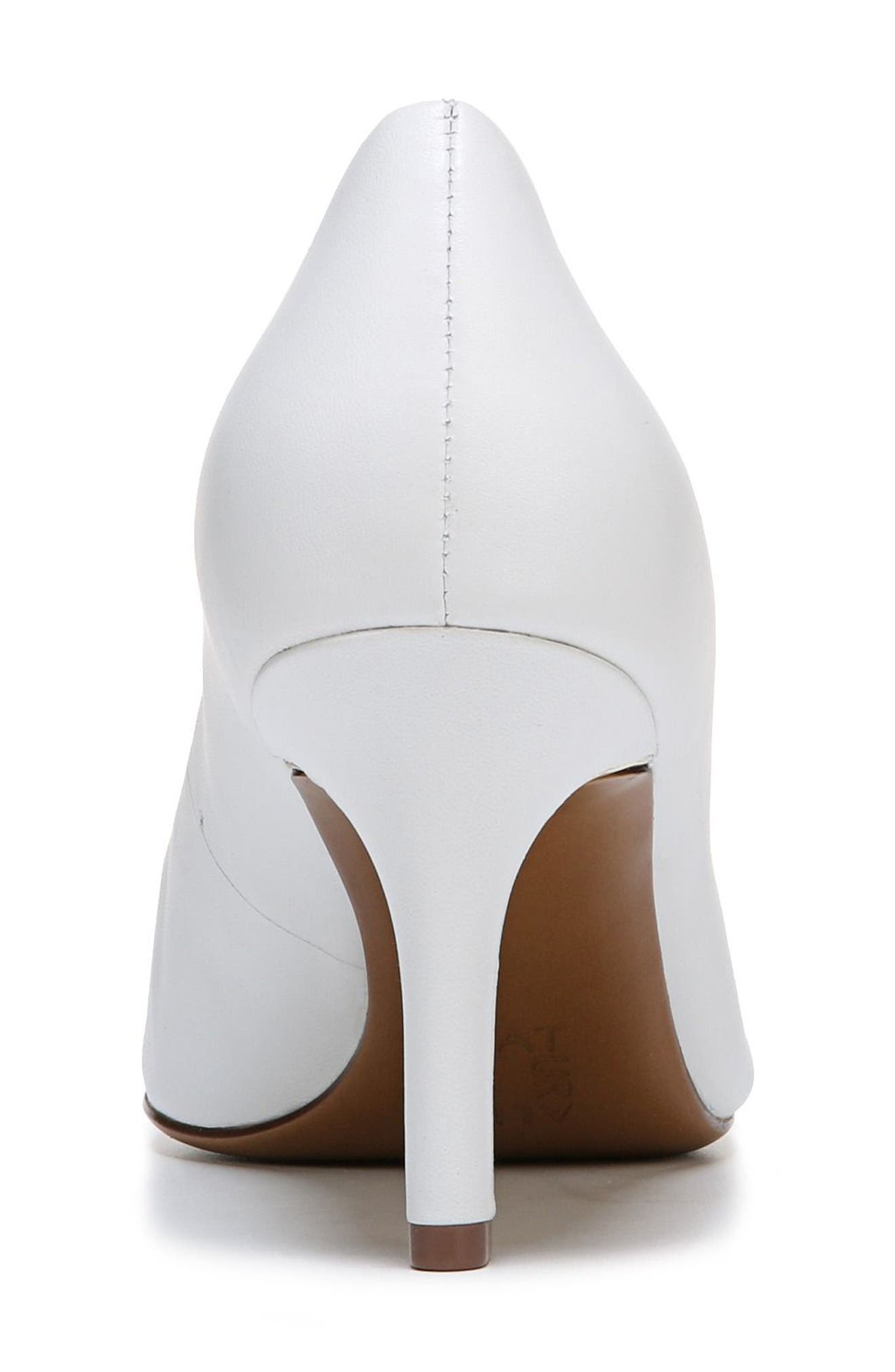 Natalie Pointy Toe Pump,                             Alternate thumbnail 2, color,                             WHITE LEATHER