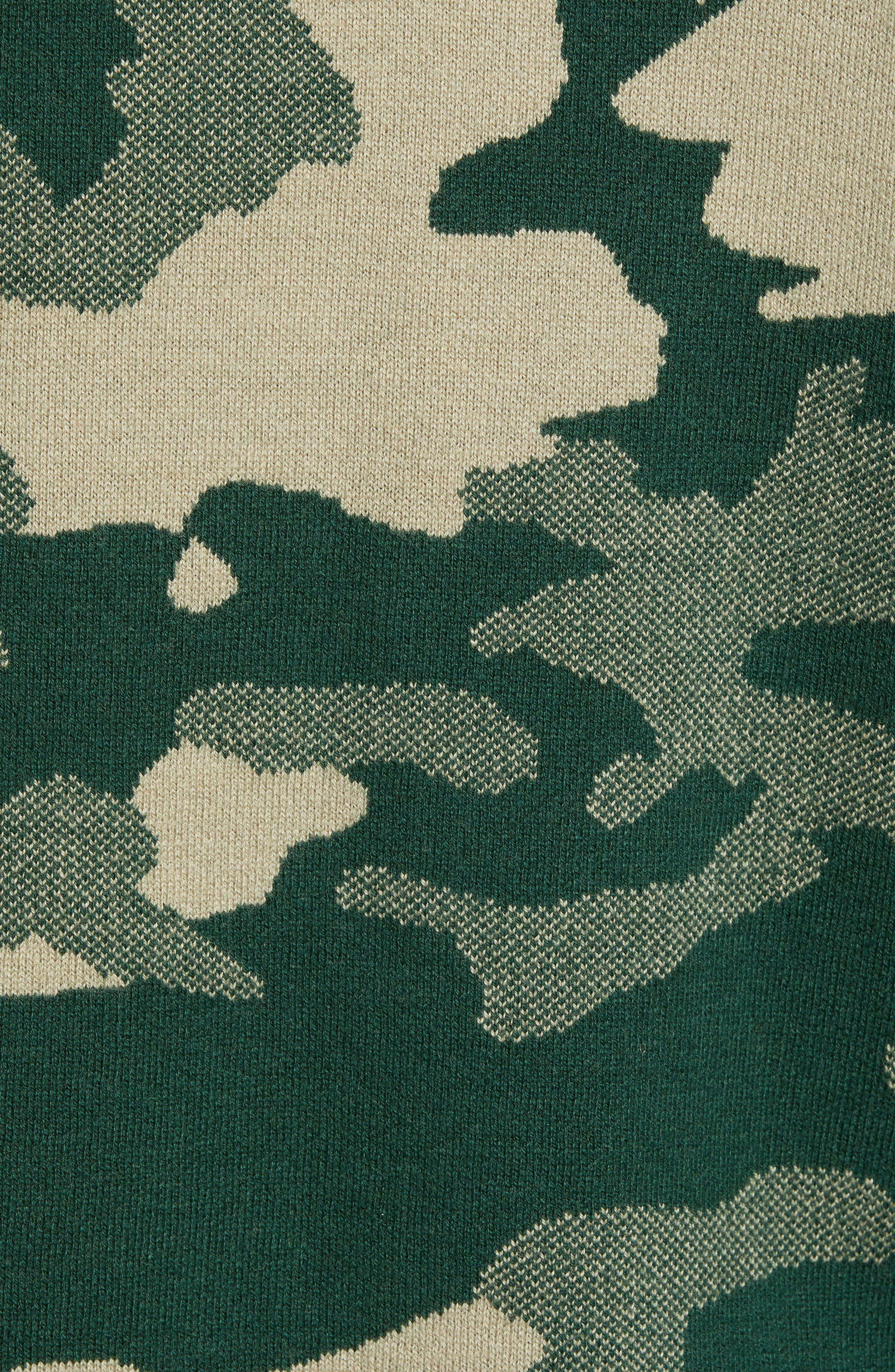 Anwar Camo Crewneck Sweater,                             Alternate thumbnail 5, color,                             PEAKS WOODLAND