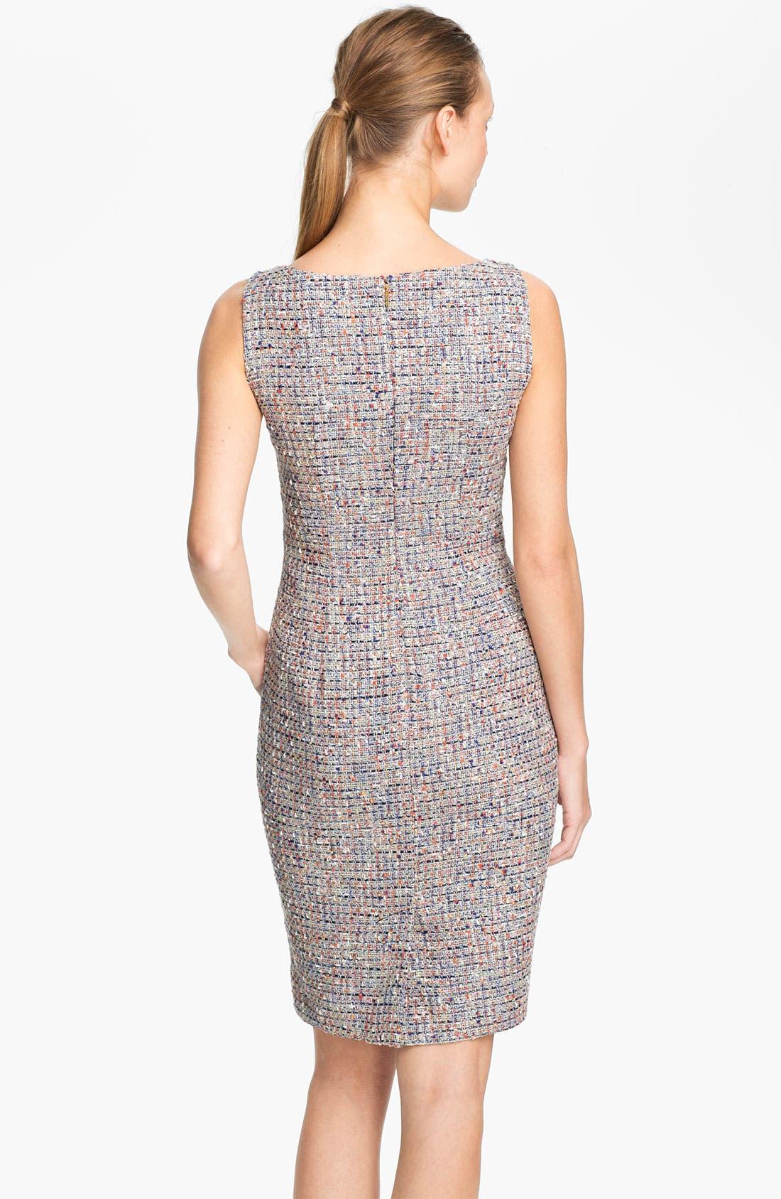 'Emma' Tweed Sheath Dress,                             Alternate thumbnail 3, color,                             486