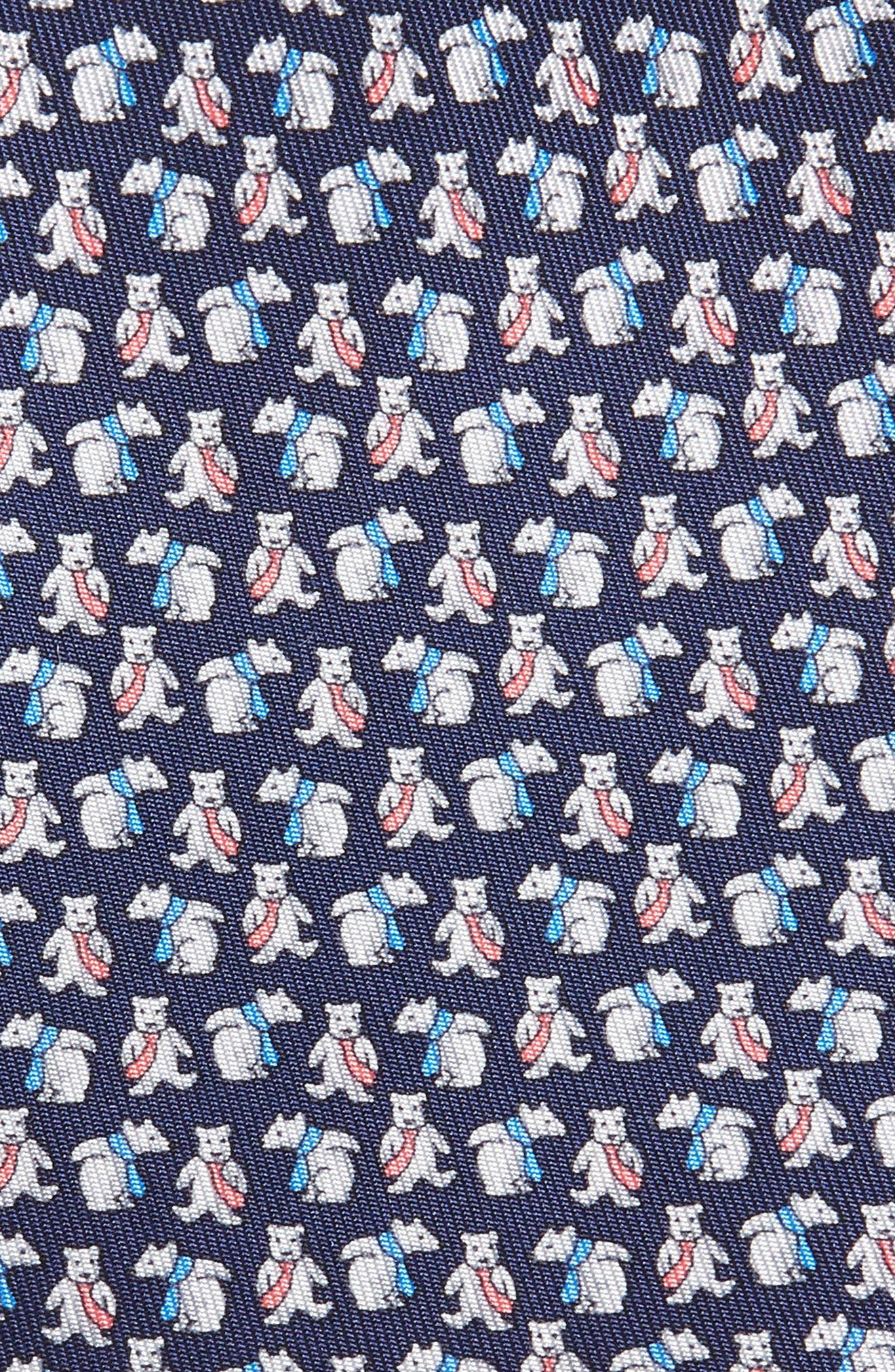 Flint Print Silk Tie,                             Alternate thumbnail 2, color,                             MARINE