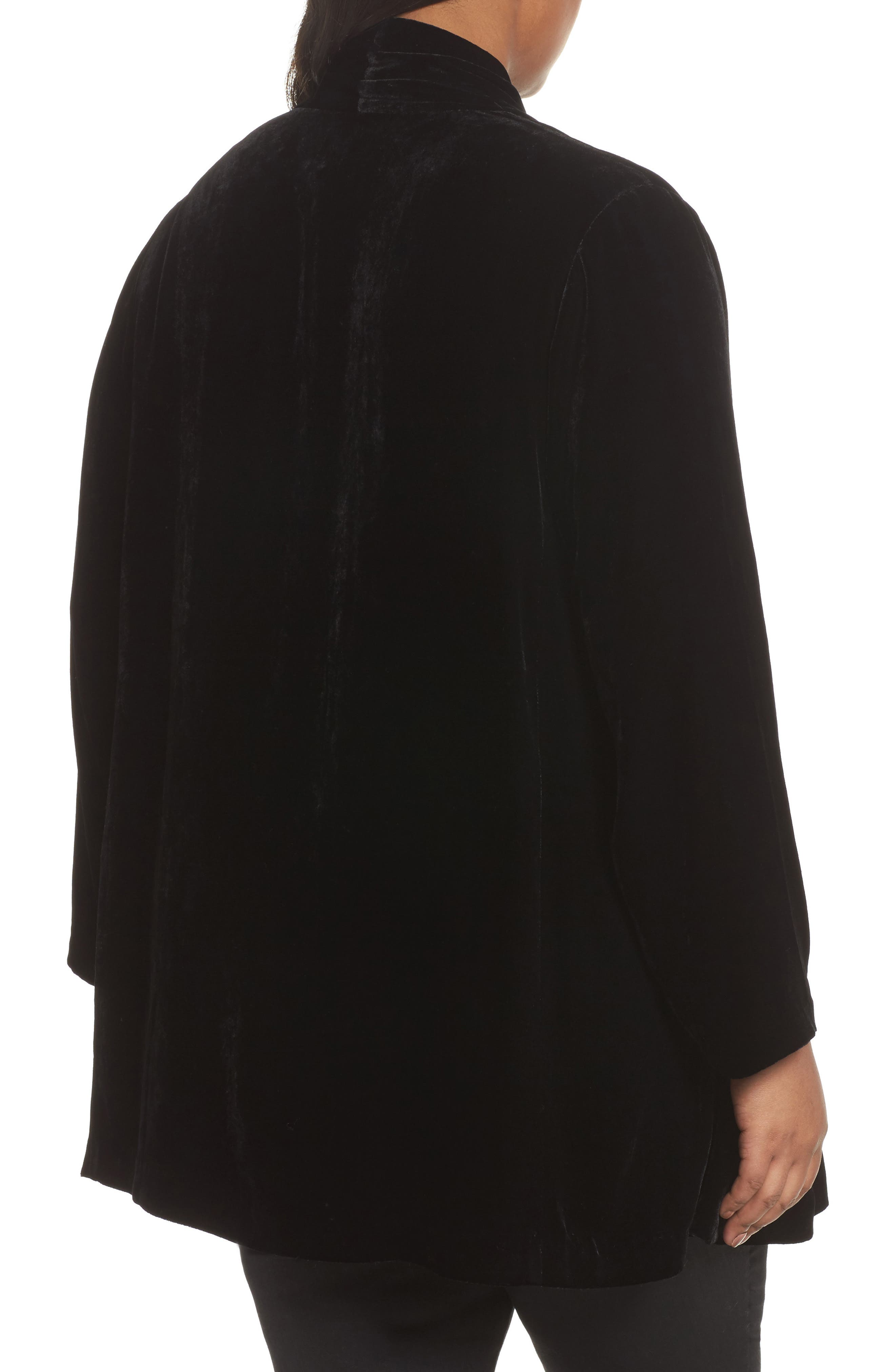 Shawl Collar Velvet Jacket,                             Alternate thumbnail 2, color,                             001