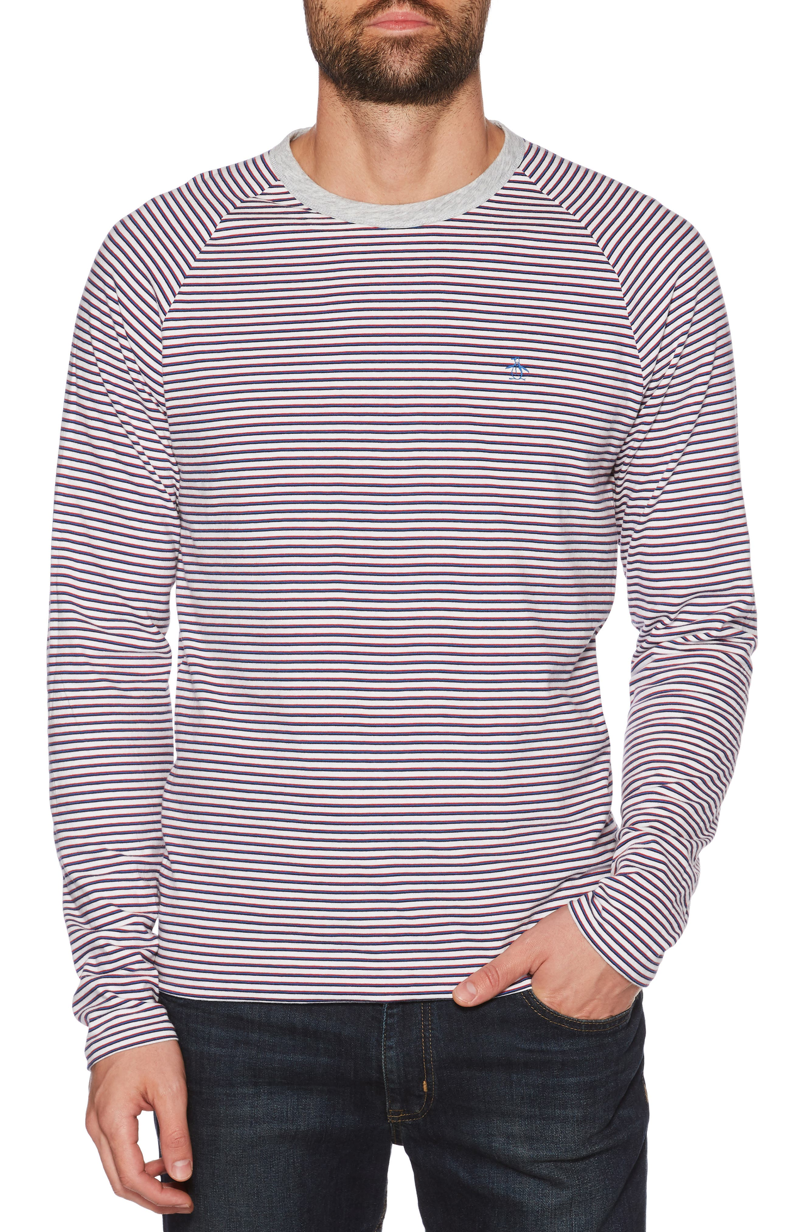 Reversible Long Sleeve Raglan T-Shirt,                             Alternate thumbnail 2, color,                             HIGH RISE