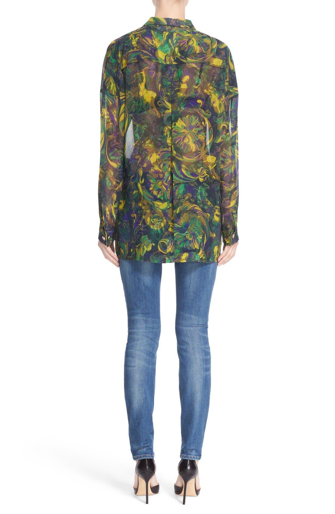 Sparkle Stripe Embellished Skinny Jeans,                             Alternate thumbnail 4, color,                             400