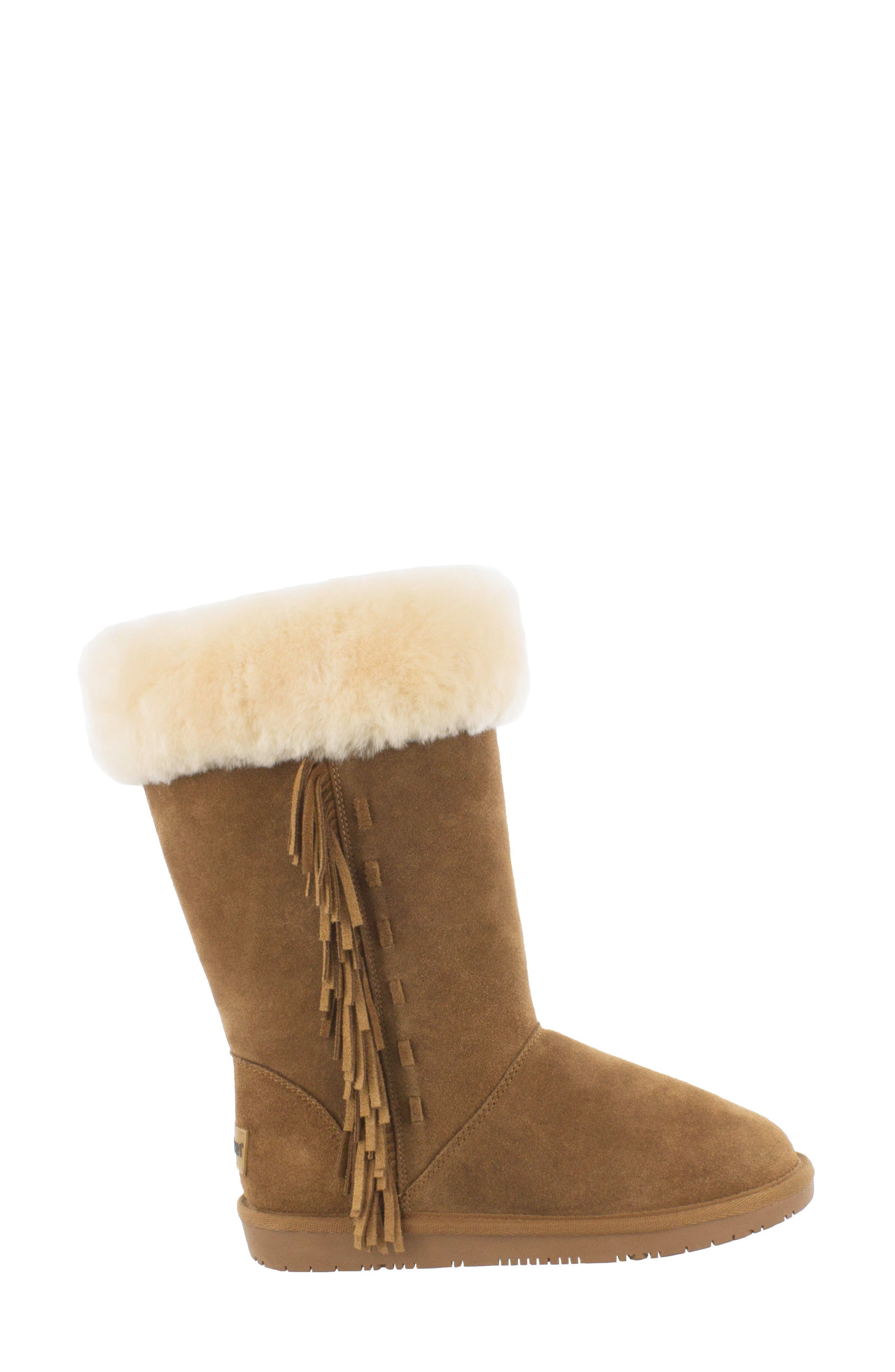 Canyon Genuine Shearling Trim Boot,                             Alternate thumbnail 4, color,