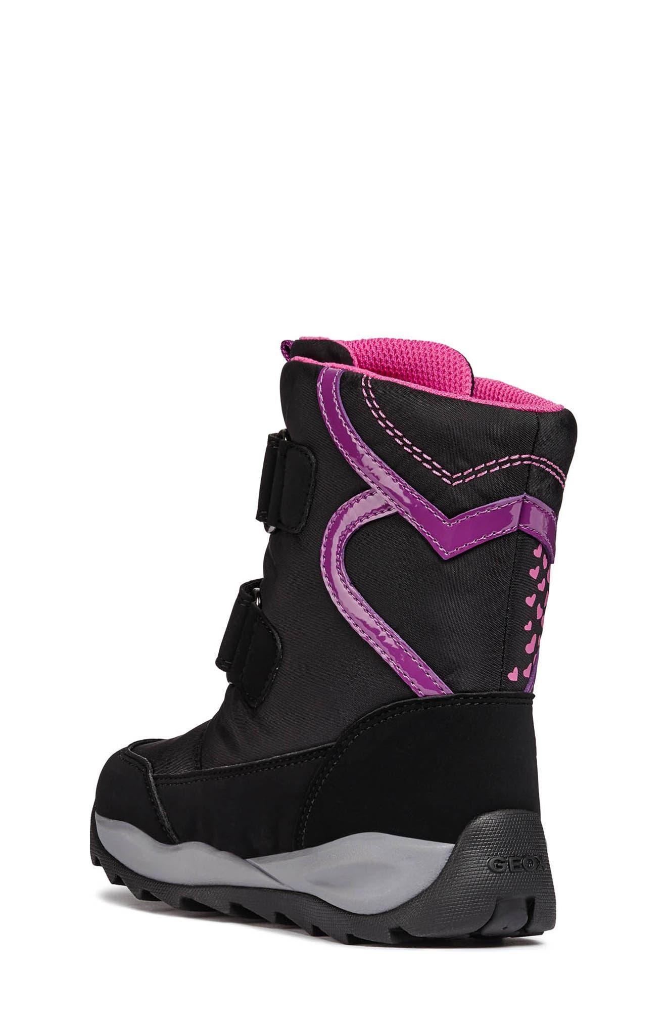 Orizont ABX Waterproof Boot,                             Alternate thumbnail 2, color,                             BLACK/FUCHSIA