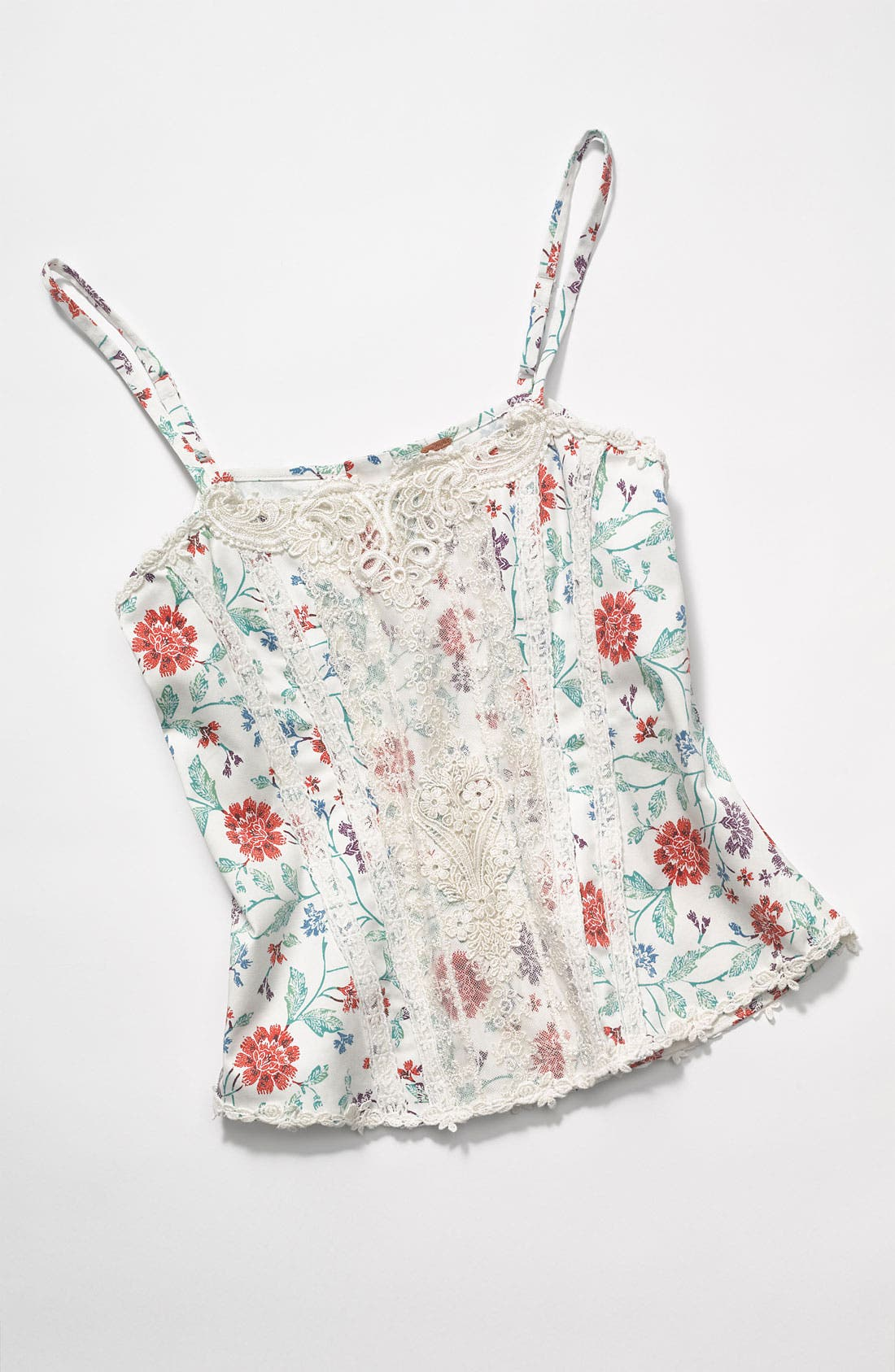 'Miss Lizzy' Floral Corset Camisole,                             Alternate thumbnail 4, color,                             900