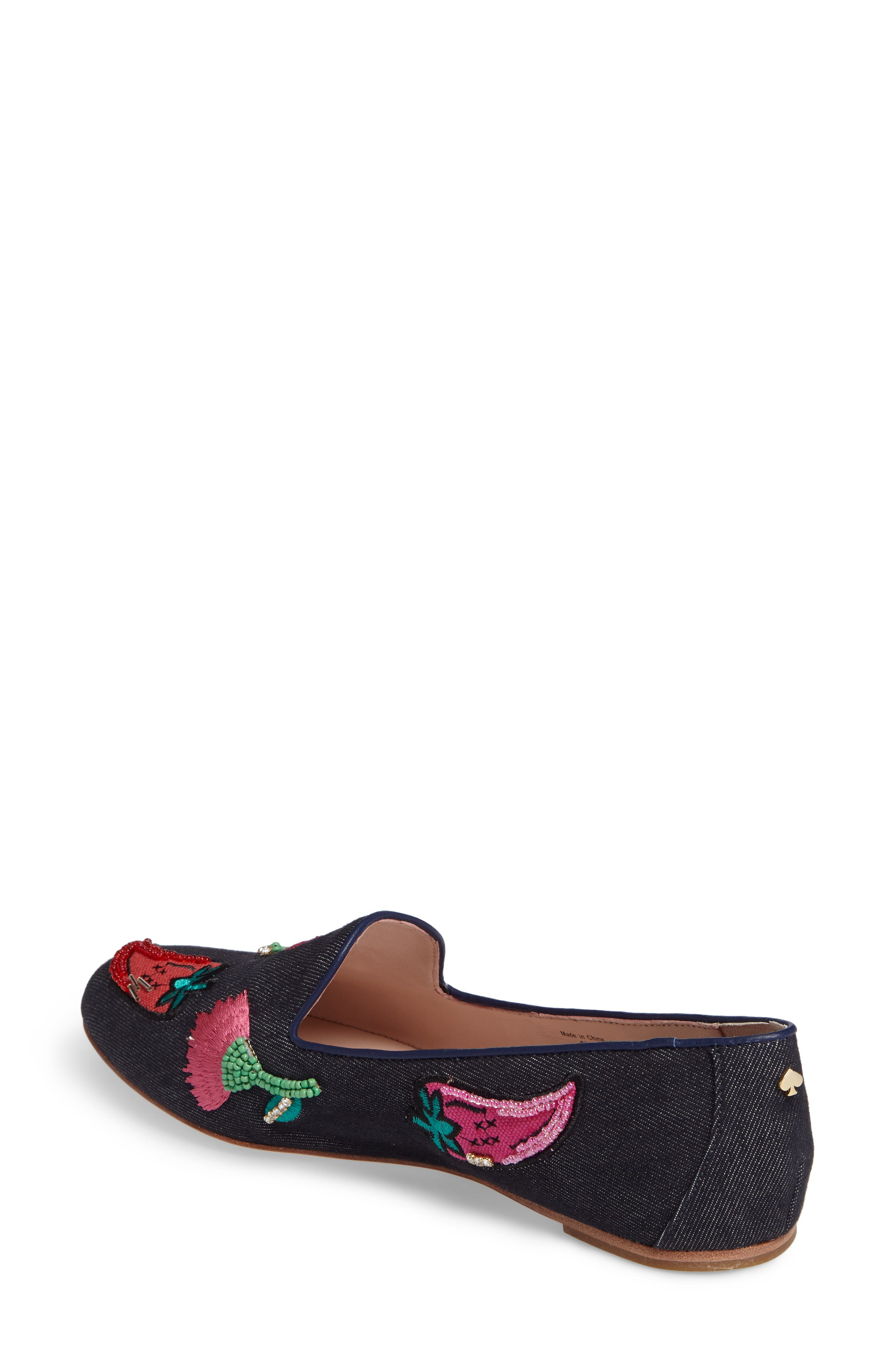 saville embroidered loafer,                             Alternate thumbnail 2, color,                             489