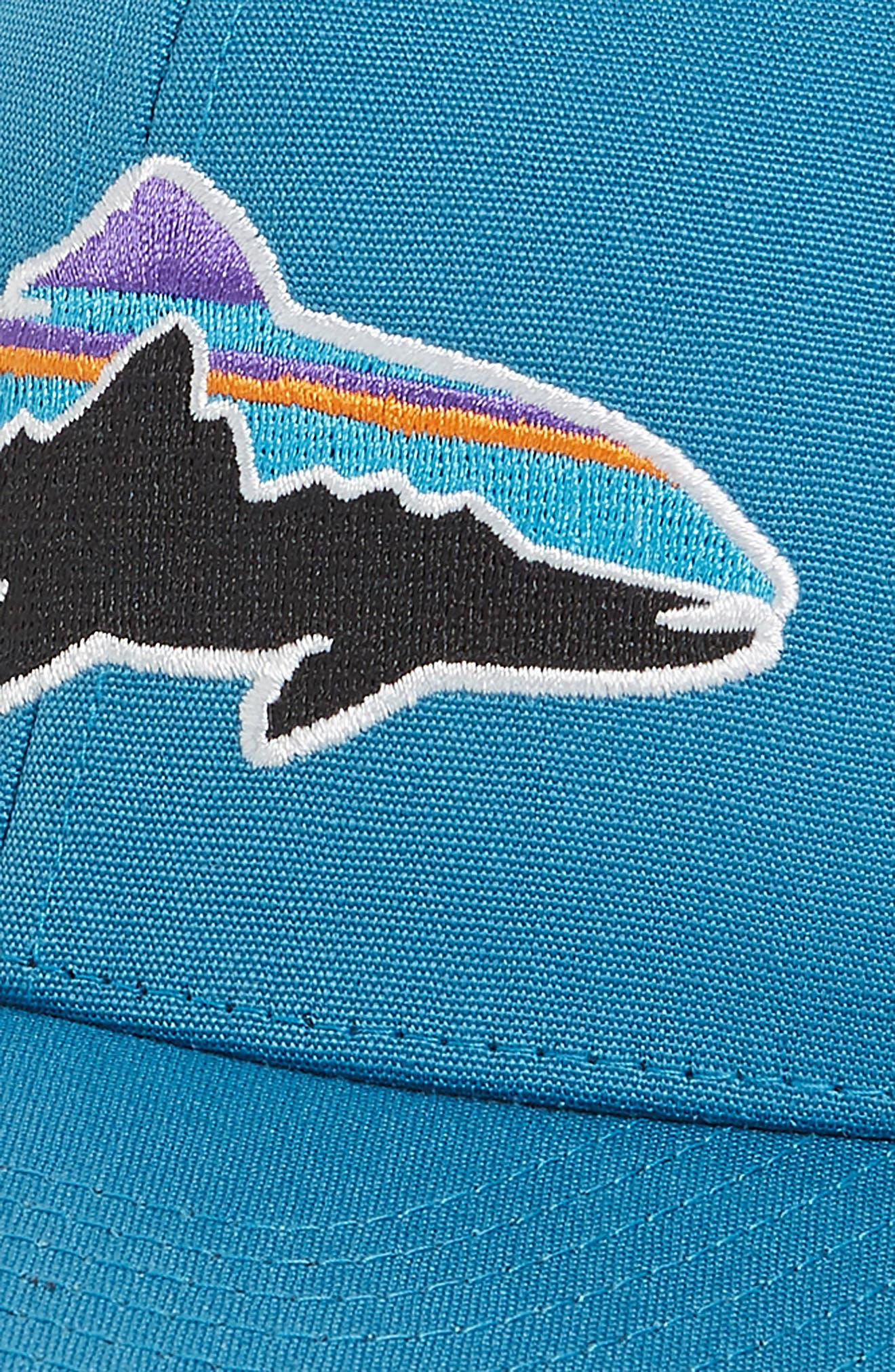 'Fitz Roy - Trout' Trucker Hat,                             Alternate thumbnail 3, color,                             LUMI BLUE