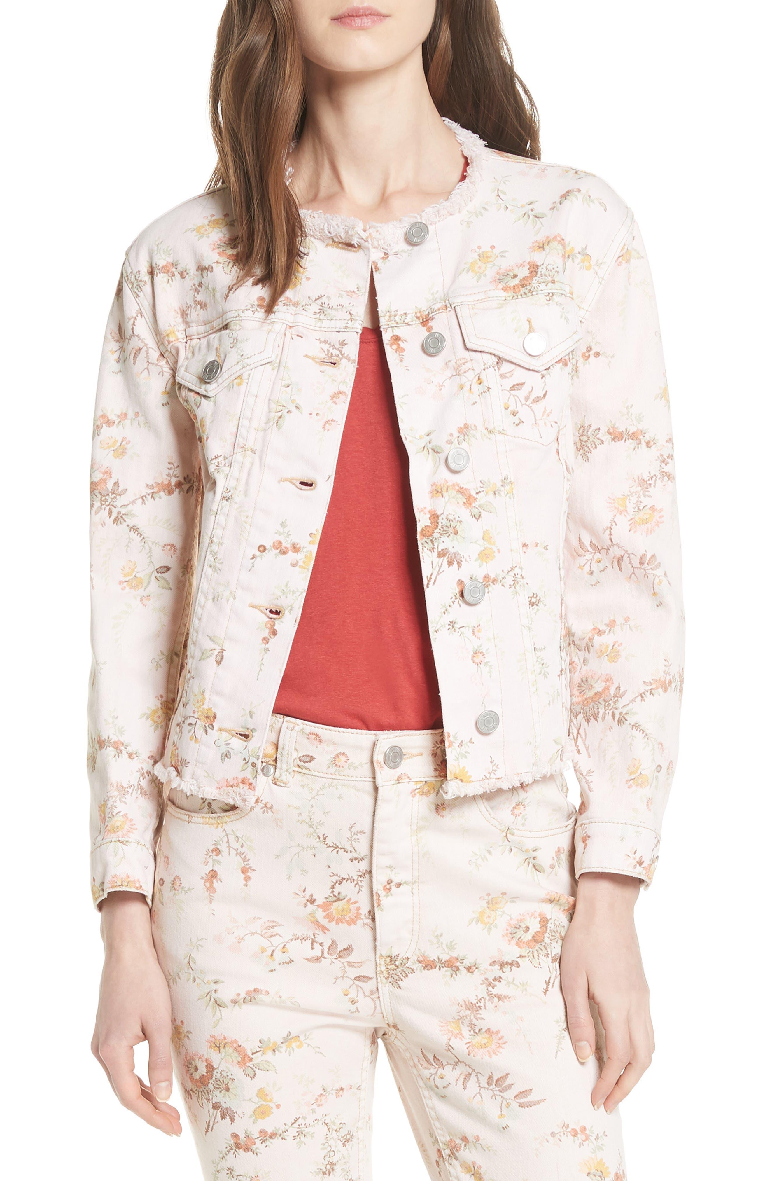 Belle Denim Jacket,                         Main,                         color, 903