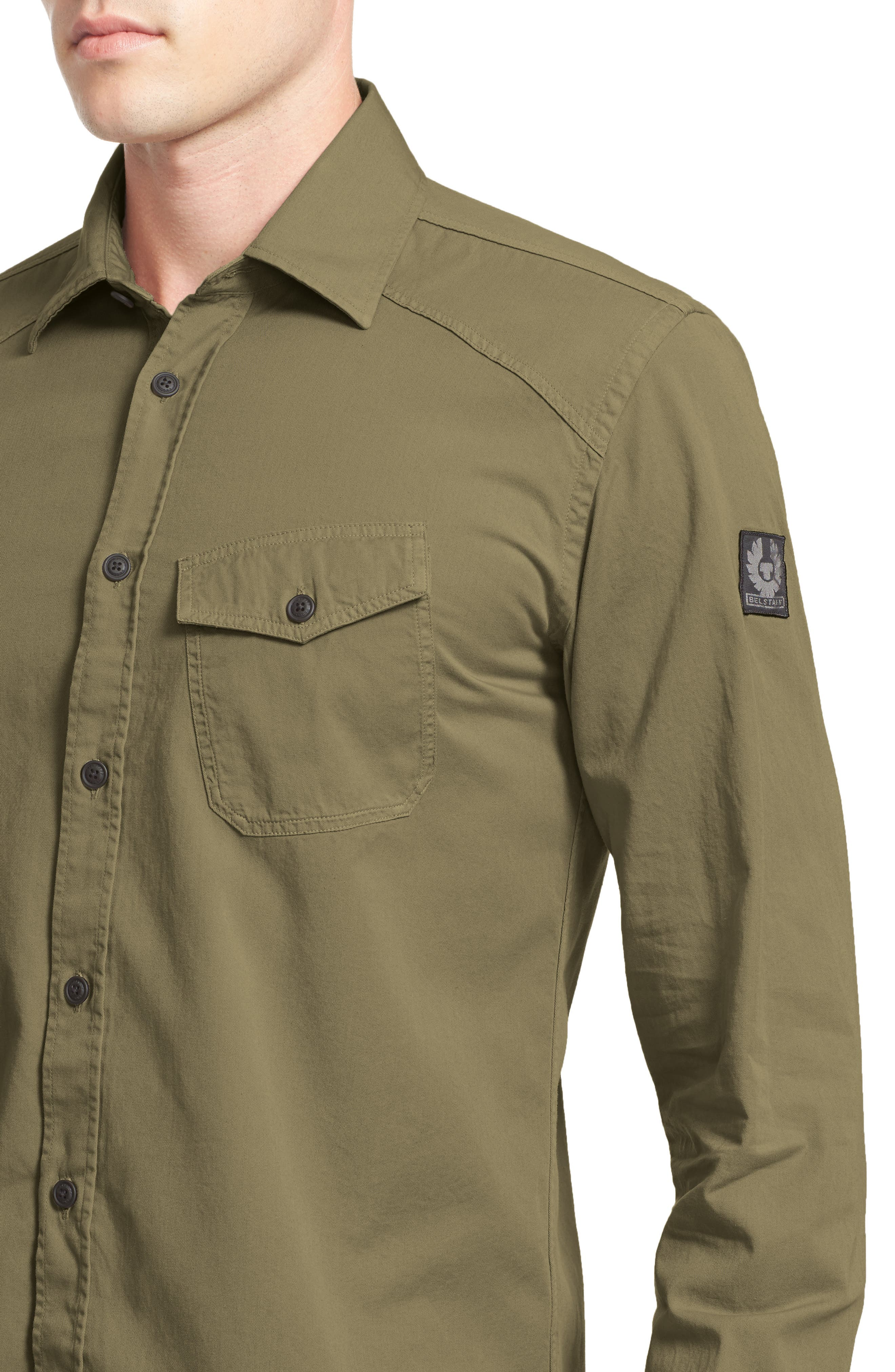 Steadway Woven Shirt,                             Alternate thumbnail 4, color,                             312