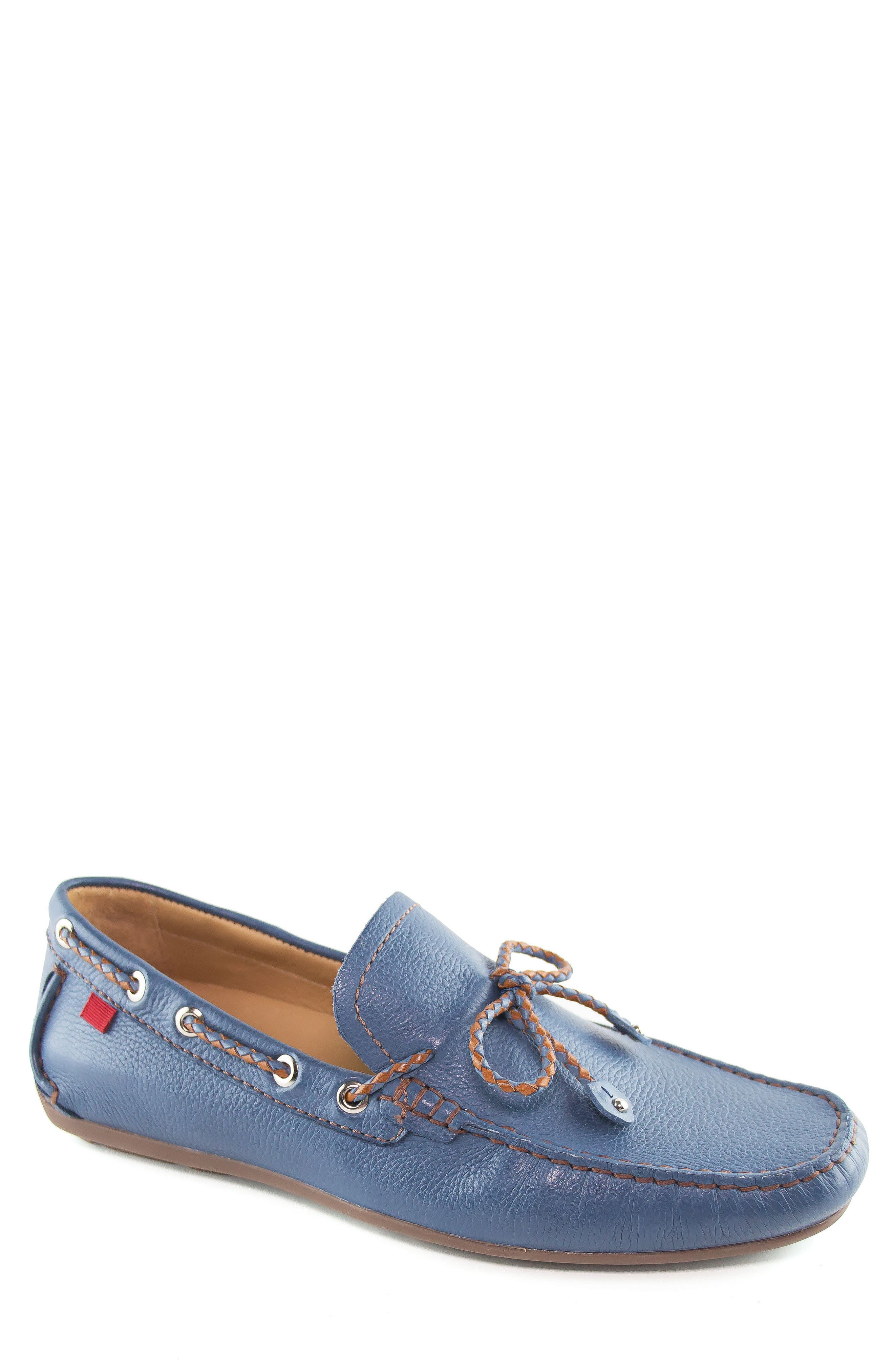 'Cypress' Moccasin,                             Main thumbnail 1, color,                             STEEL BLUE