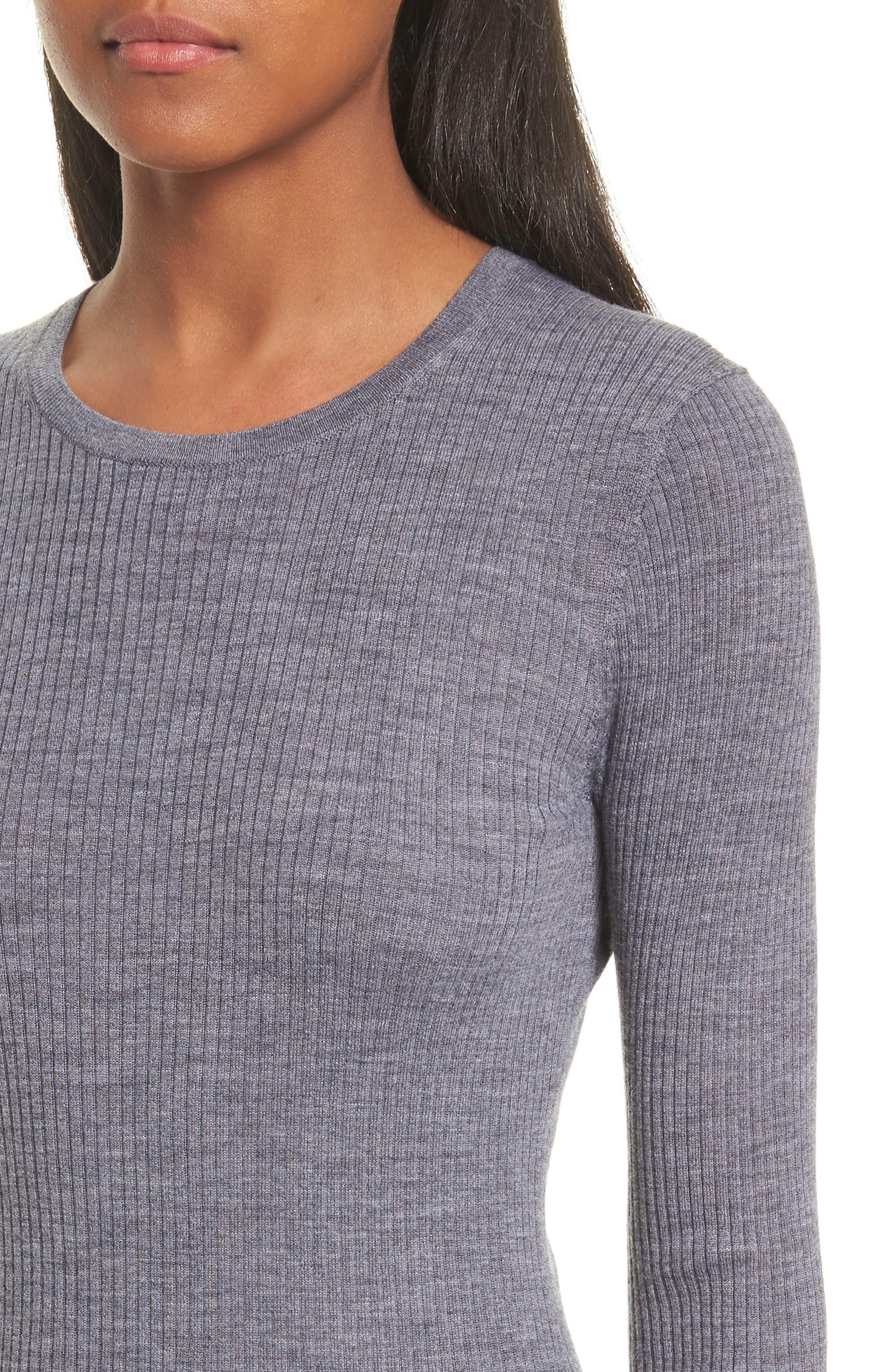 Mirzi B Merino Wool Sweater,                             Alternate thumbnail 4, color,                             059