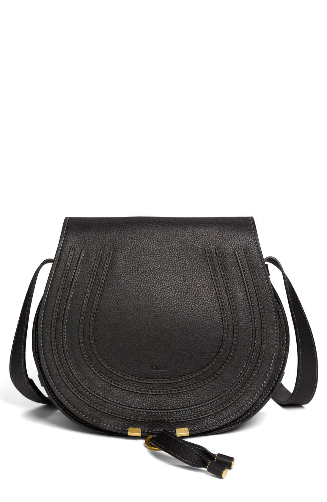 'Marcie - Medium' Leather Crossbody Bag,                             Main thumbnail 1, color,                             001