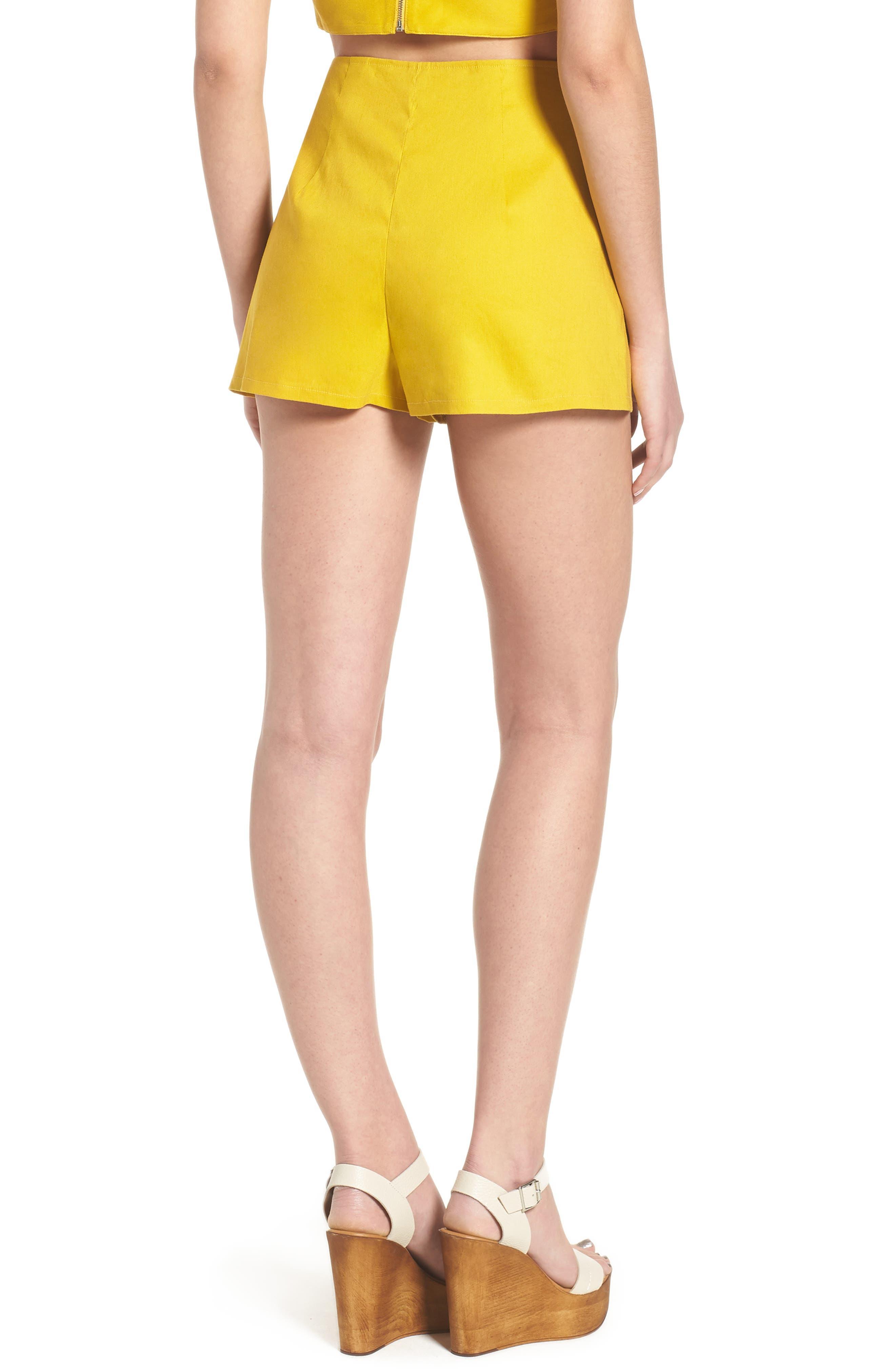 High Waist Linen Blend Shorts,                             Alternate thumbnail 9, color,