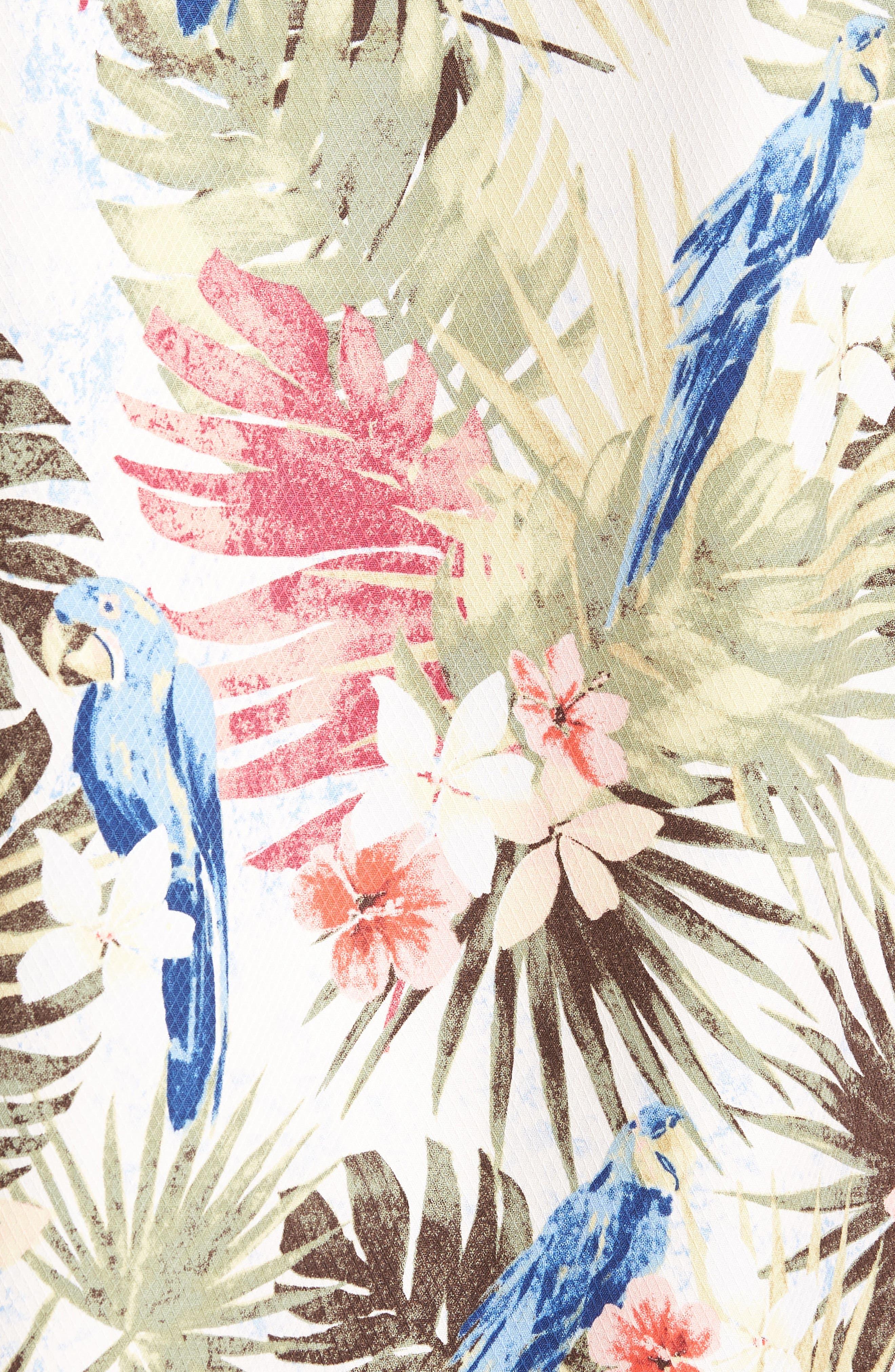 Marino Paradise Silk Camp Shirt,                             Alternate thumbnail 5, color,                             100
